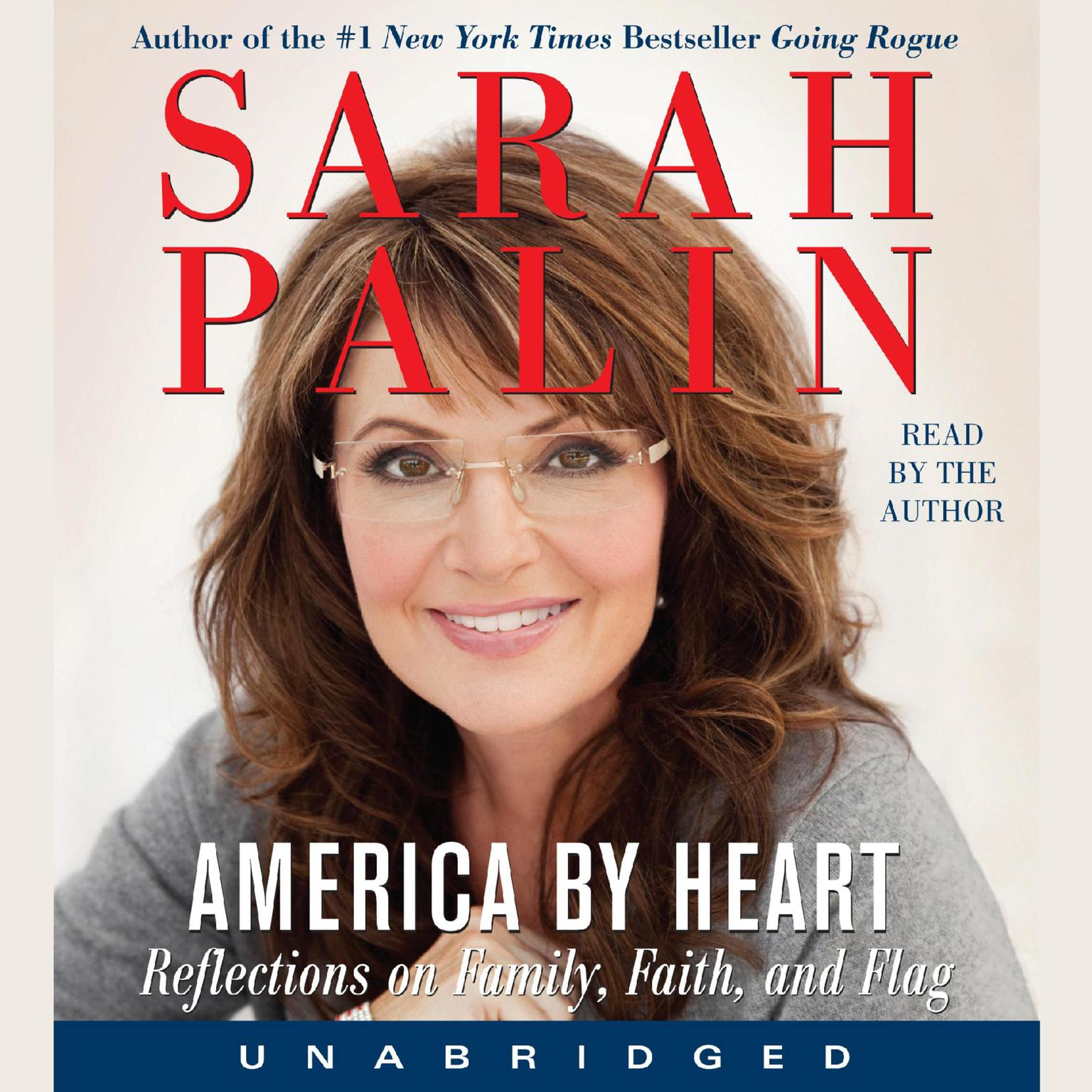 Printable America by Heart: Reflections on Family, Faith, and Flag Audiobook Cover Art
