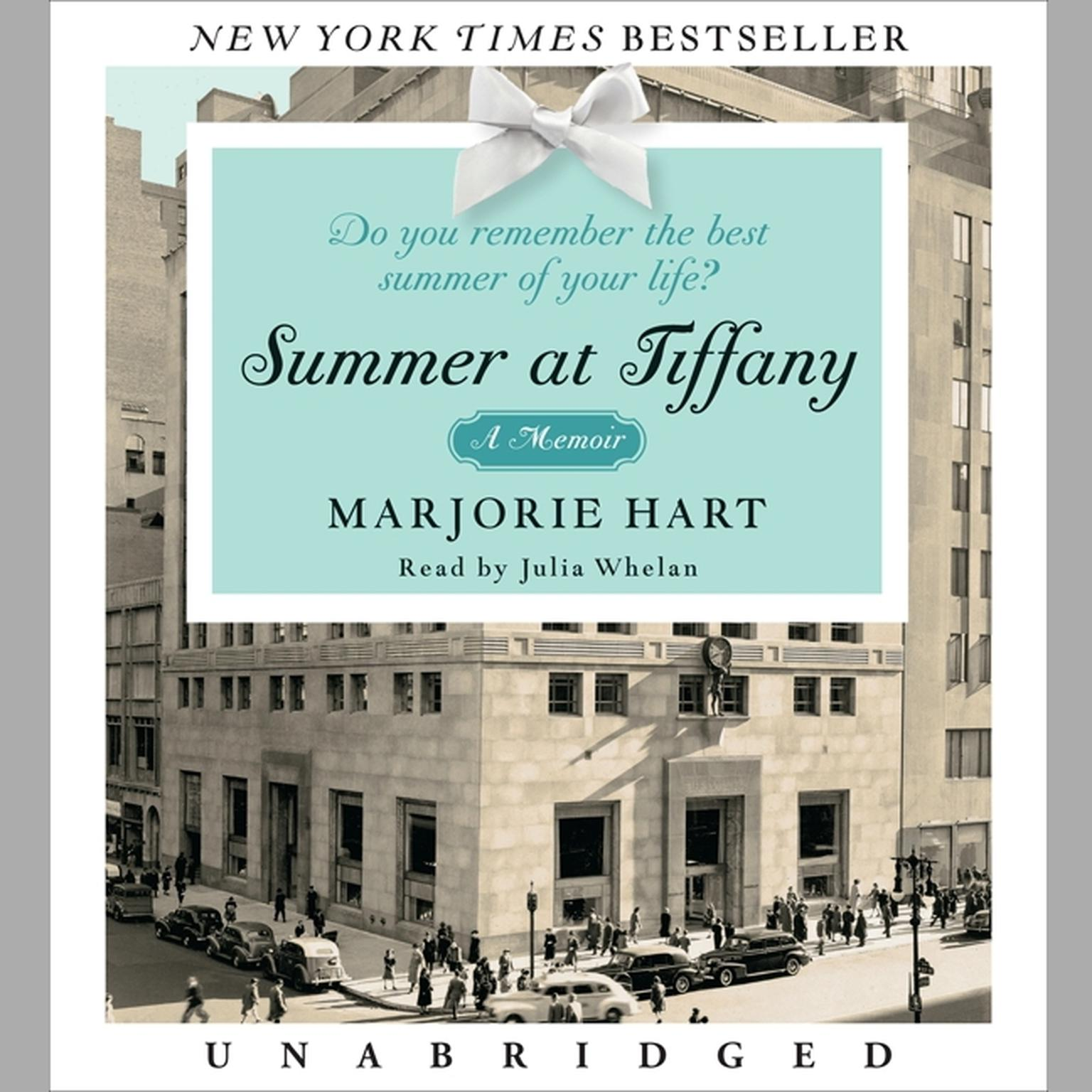 Printable Summer at Tiffany Audiobook Cover Art