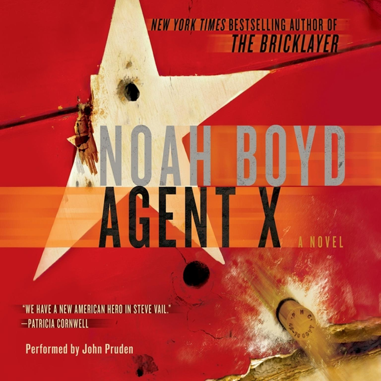 Printable Agent X: A Novel Audiobook Cover Art