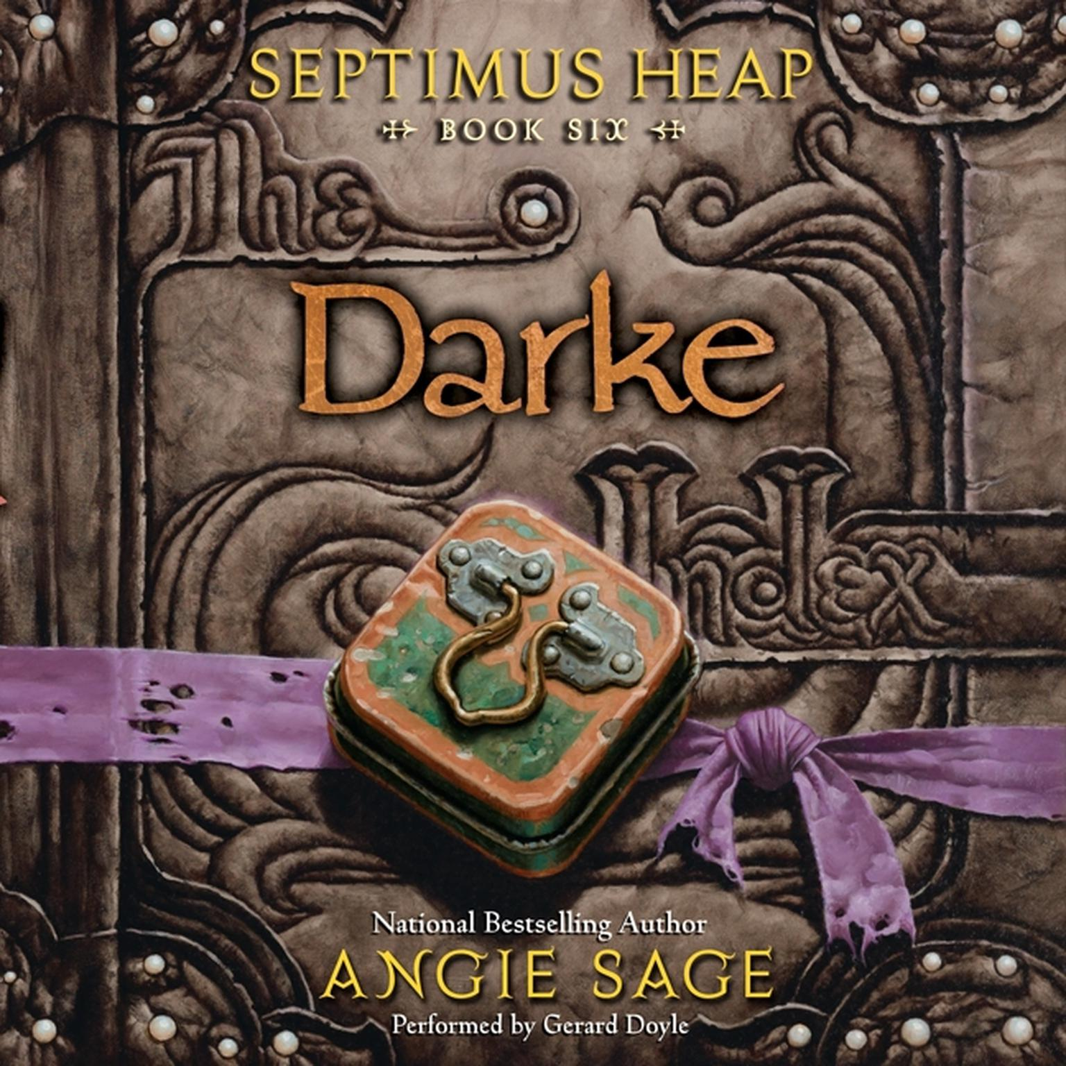 Printable Septimus Heap, Book Six: Darke Audiobook Cover Art