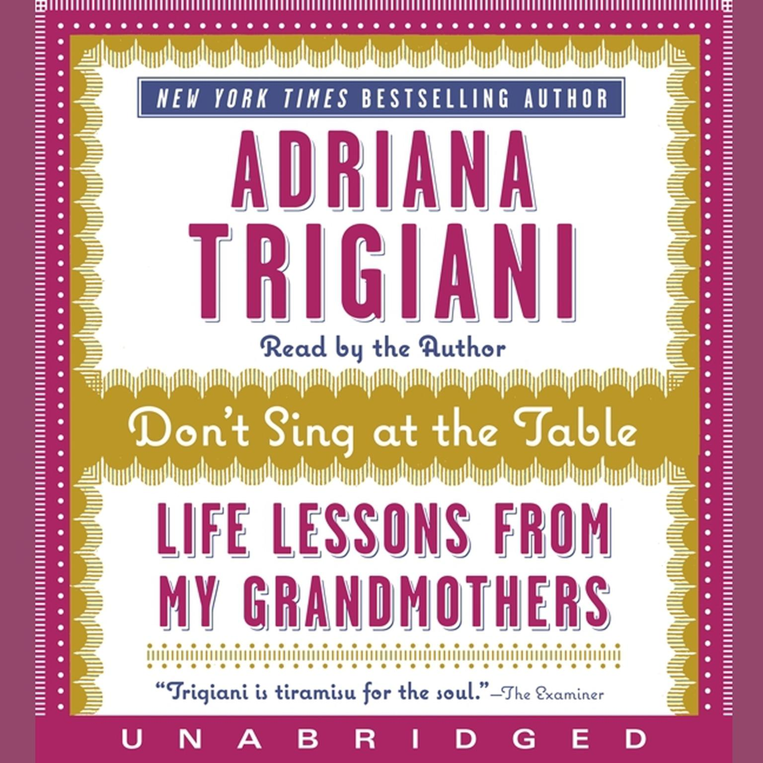 Printable Don't Sing at the Table: Life Lessons from My Grandmothers Audiobook Cover Art