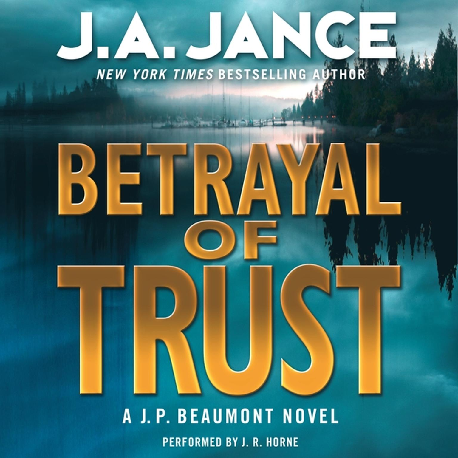 Printable Betrayal of Trust: A J. P. Beaumont Novel Audiobook Cover Art