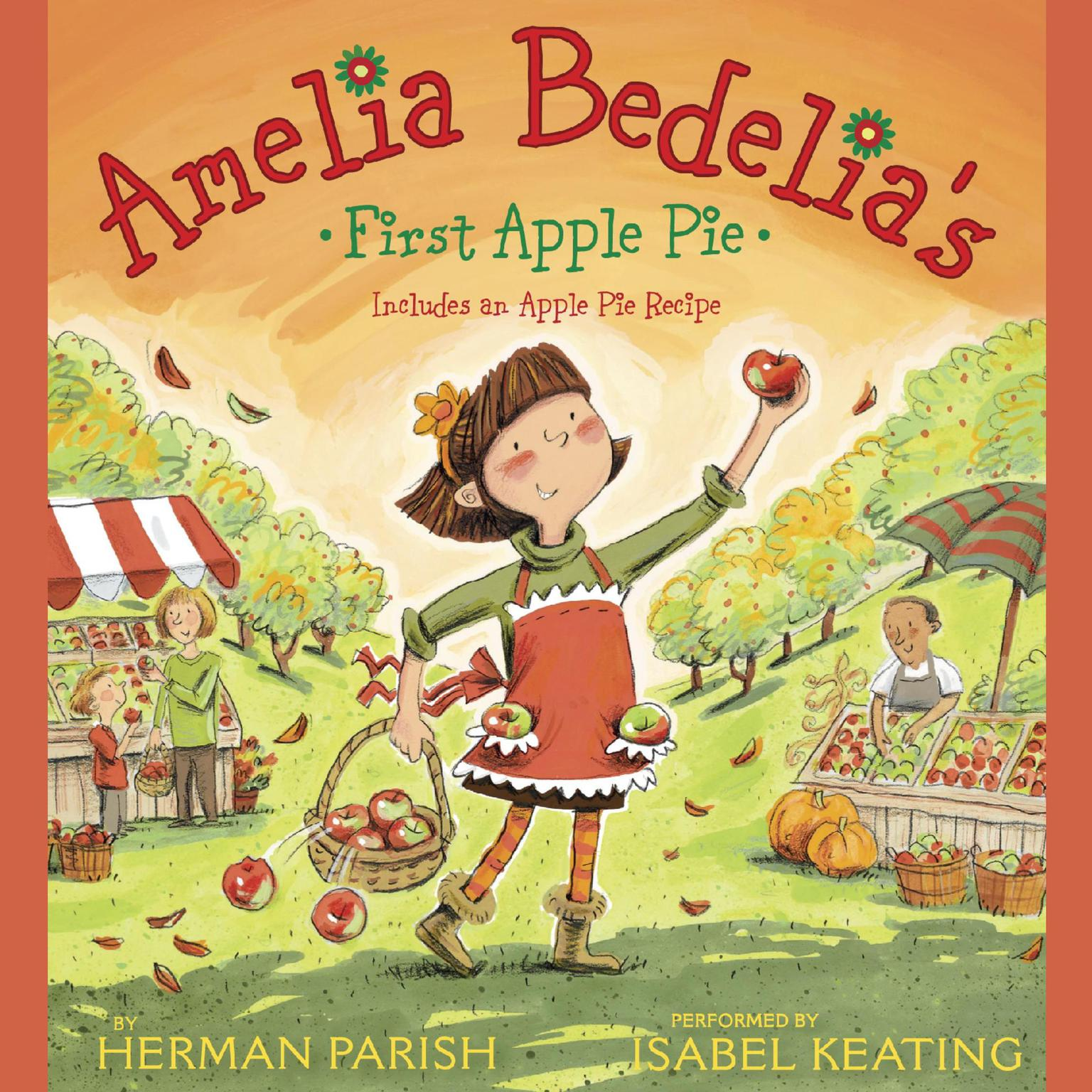 Printable Amelia Bedelia's First Apple Pie Audiobook Cover Art