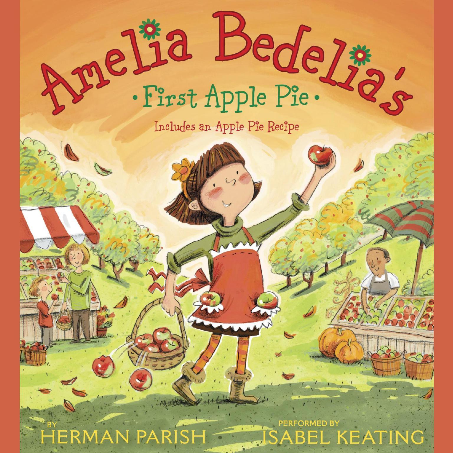 Printable Amelia Bedelia's First Apple Pie Audiobook Cover Art