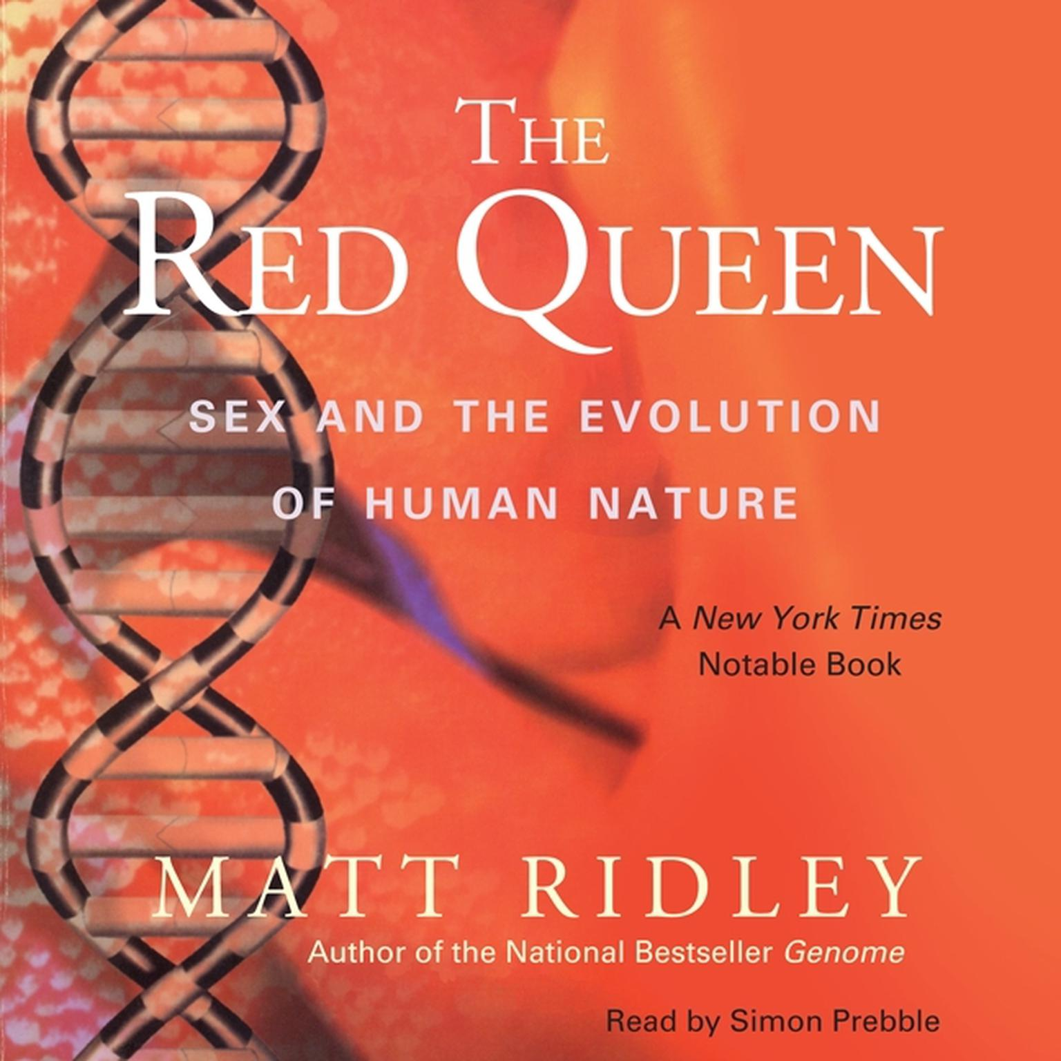 Printable The Red Queen: Sex and the Evolution of Human Nature Audiobook Cover Art