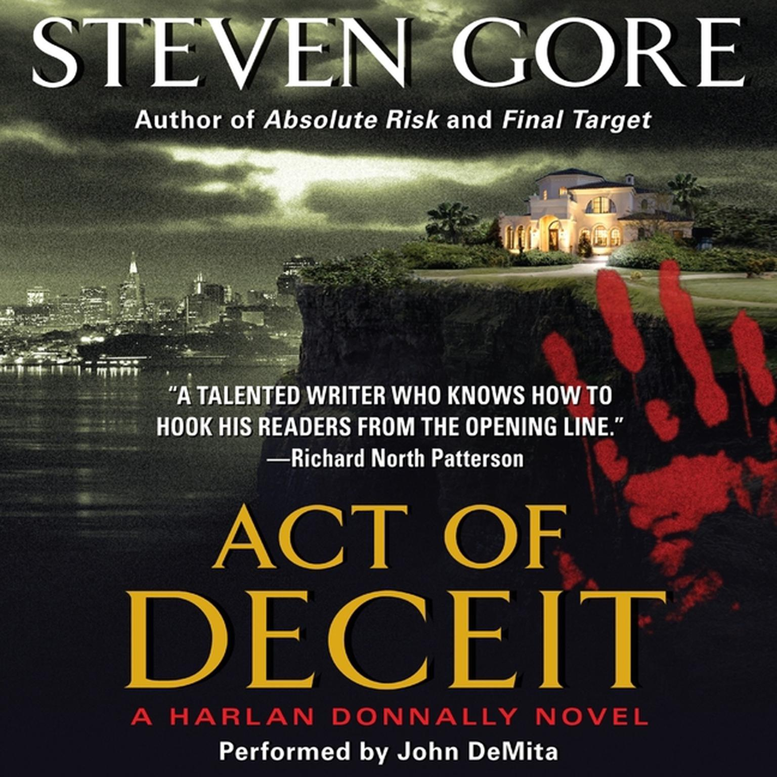 Printable Act of Deceit: A Harlan Donnally Novel Audiobook Cover Art