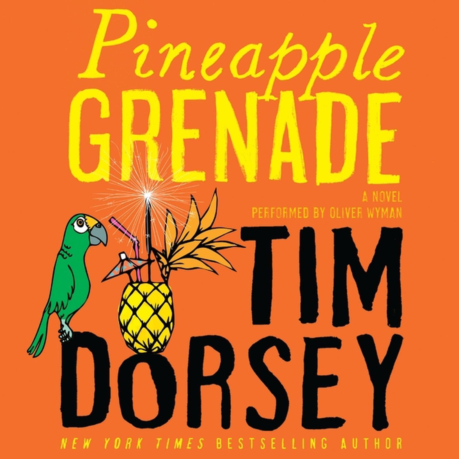Printable Pineapple Grenade: A Novel Audiobook Cover Art