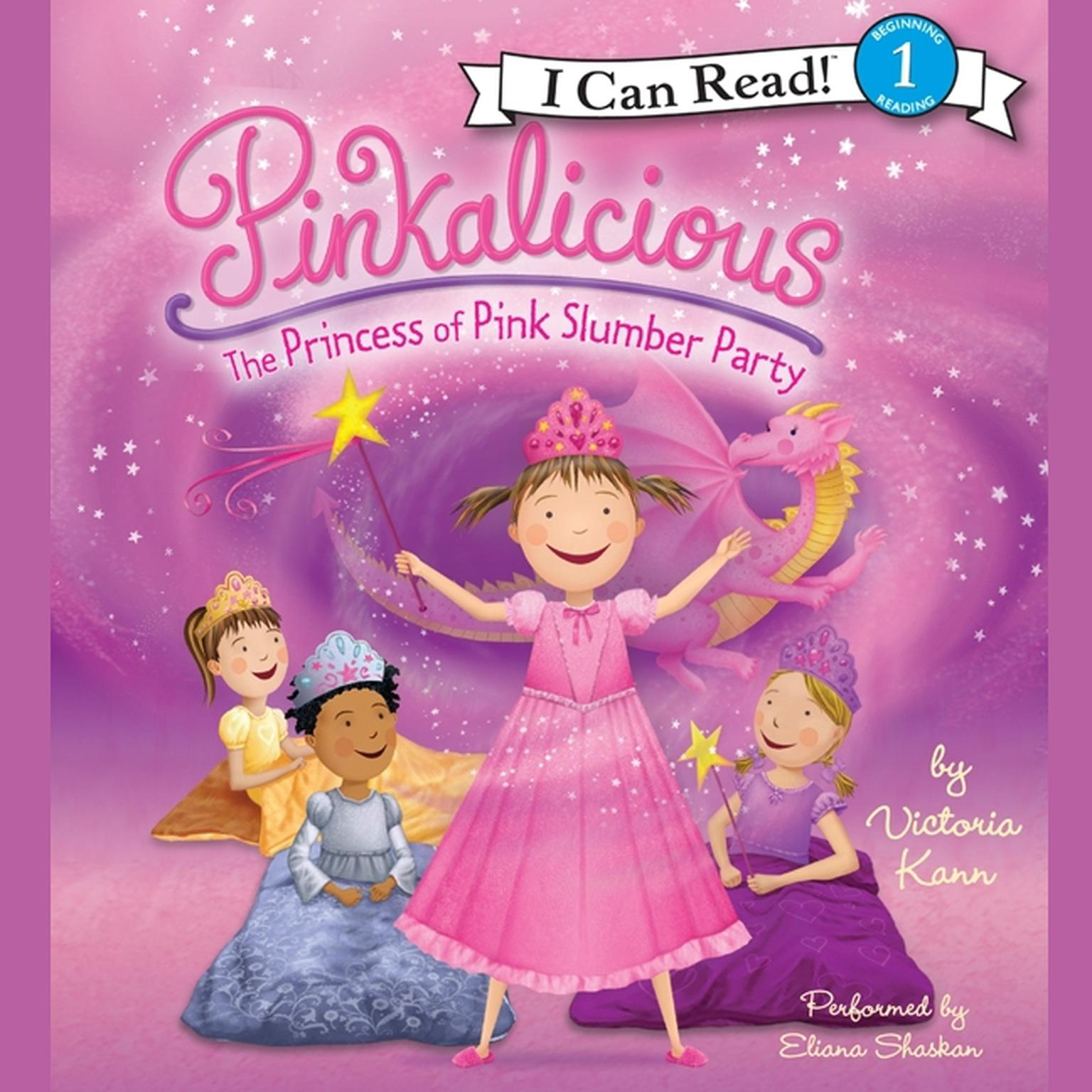 Printable Pinkalicious: The Princess of Pink Slumber Party Audiobook Cover Art