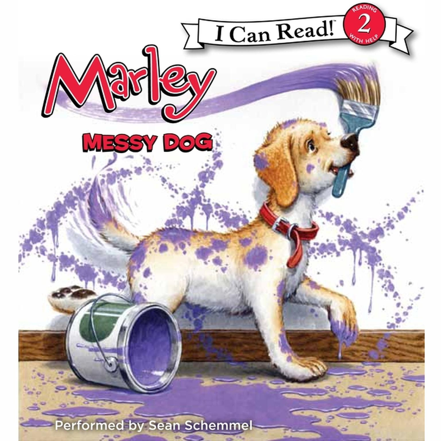 Printable Marley: Messy Dog Audiobook Cover Art