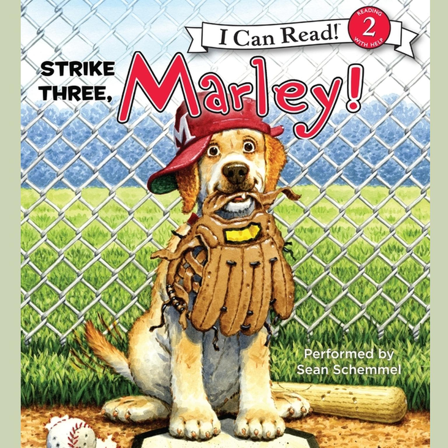 Printable Marley: Strike Three, Marley! Audiobook Cover Art