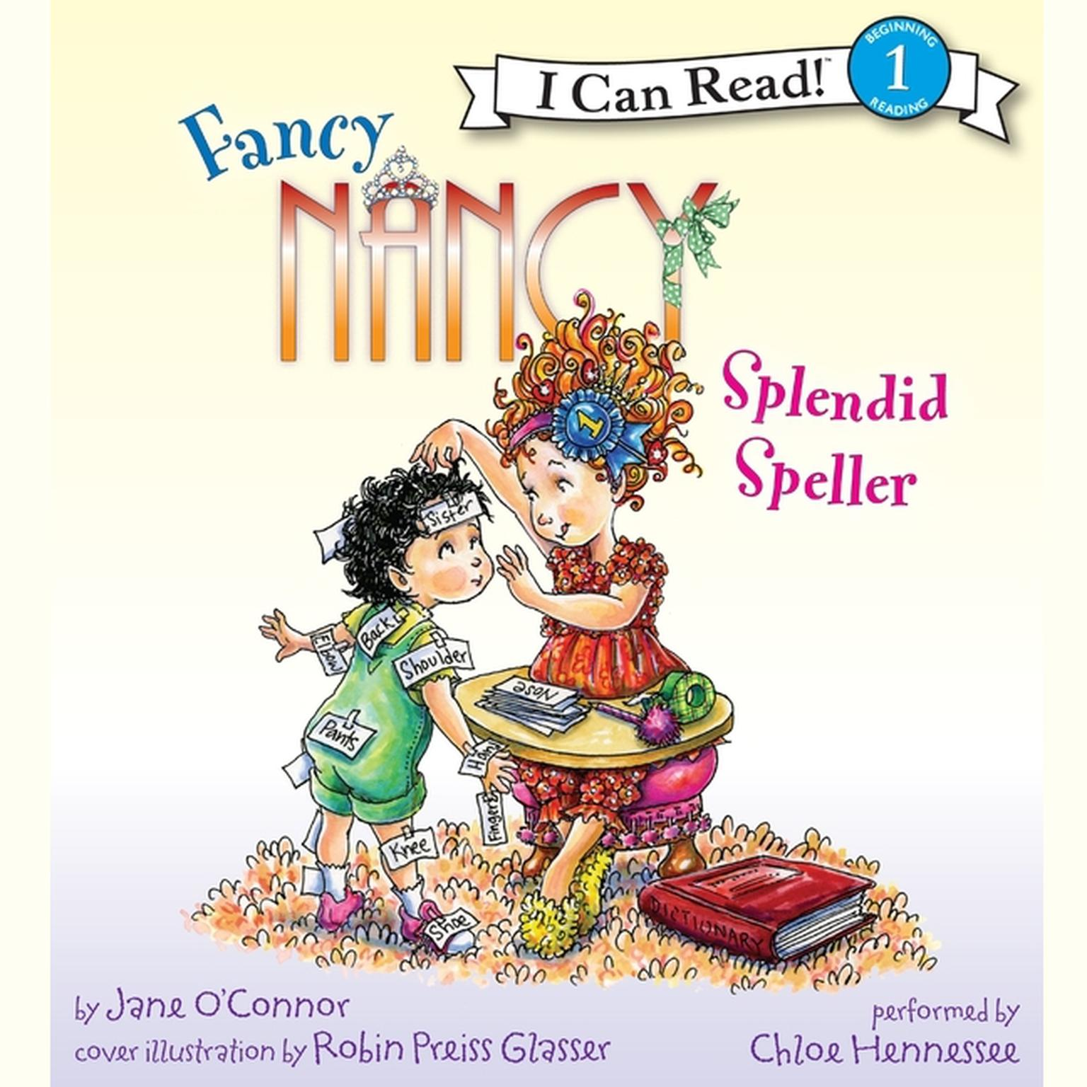 Printable Fancy Nancy: Splendid Speller Audiobook Cover Art