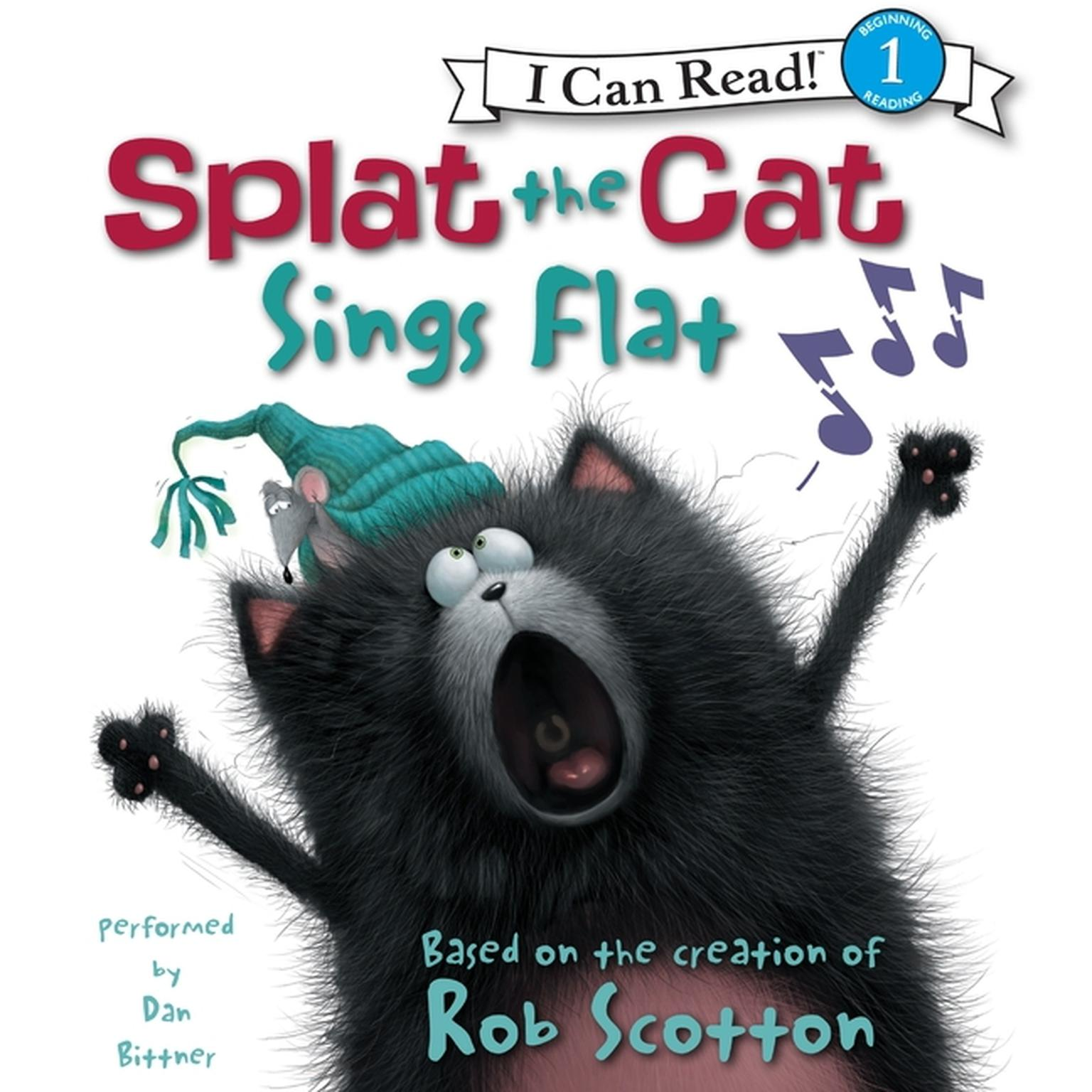 Printable Splat the Cat: Splat the Cat Sings Flat Audiobook Cover Art