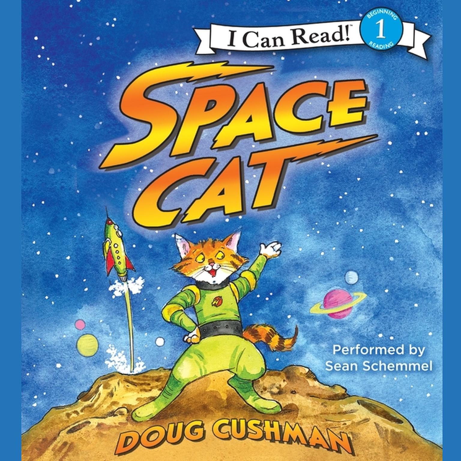 Printable Space Cat Audiobook Cover Art