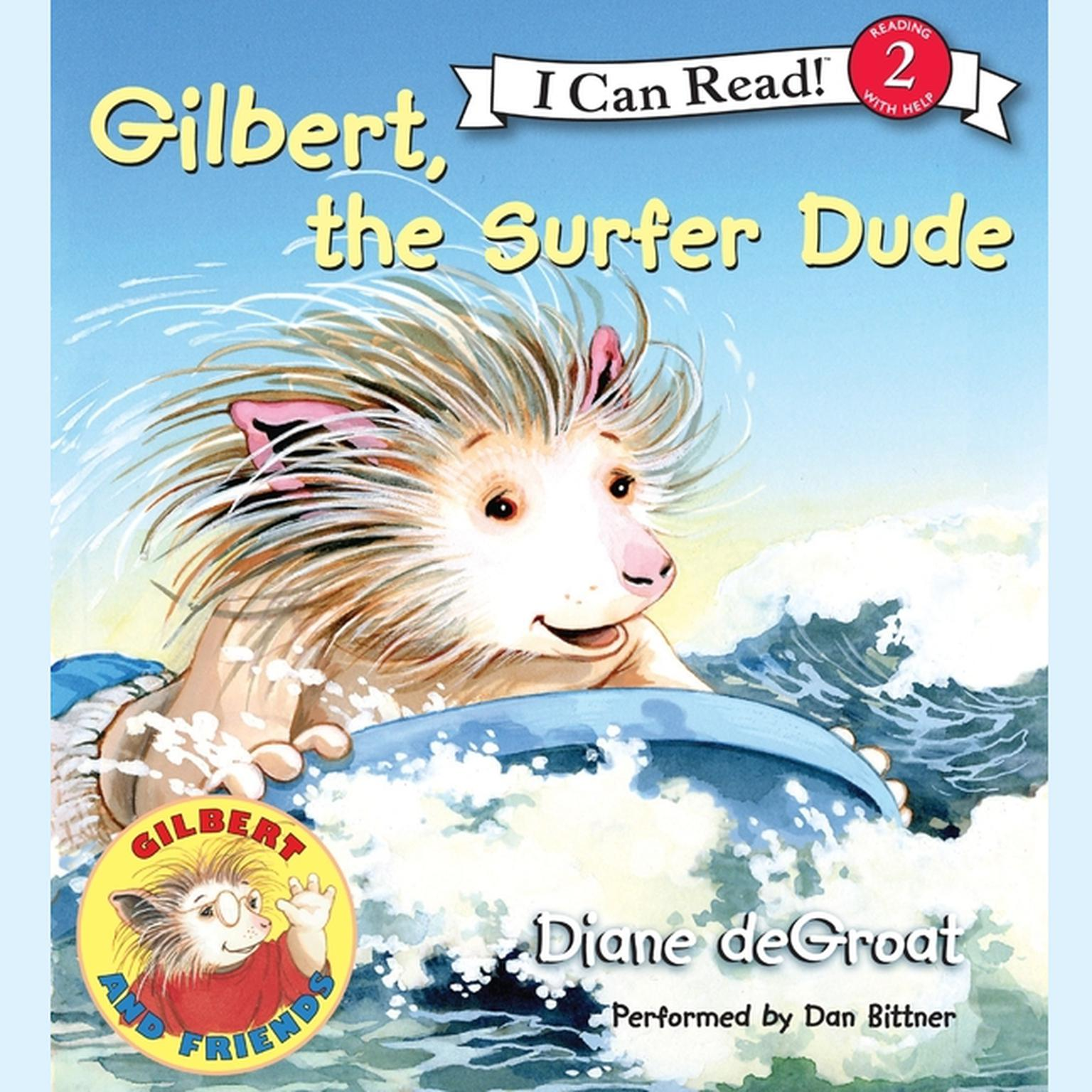 Printable Gilbert, the Surfer Dude Audiobook Cover Art