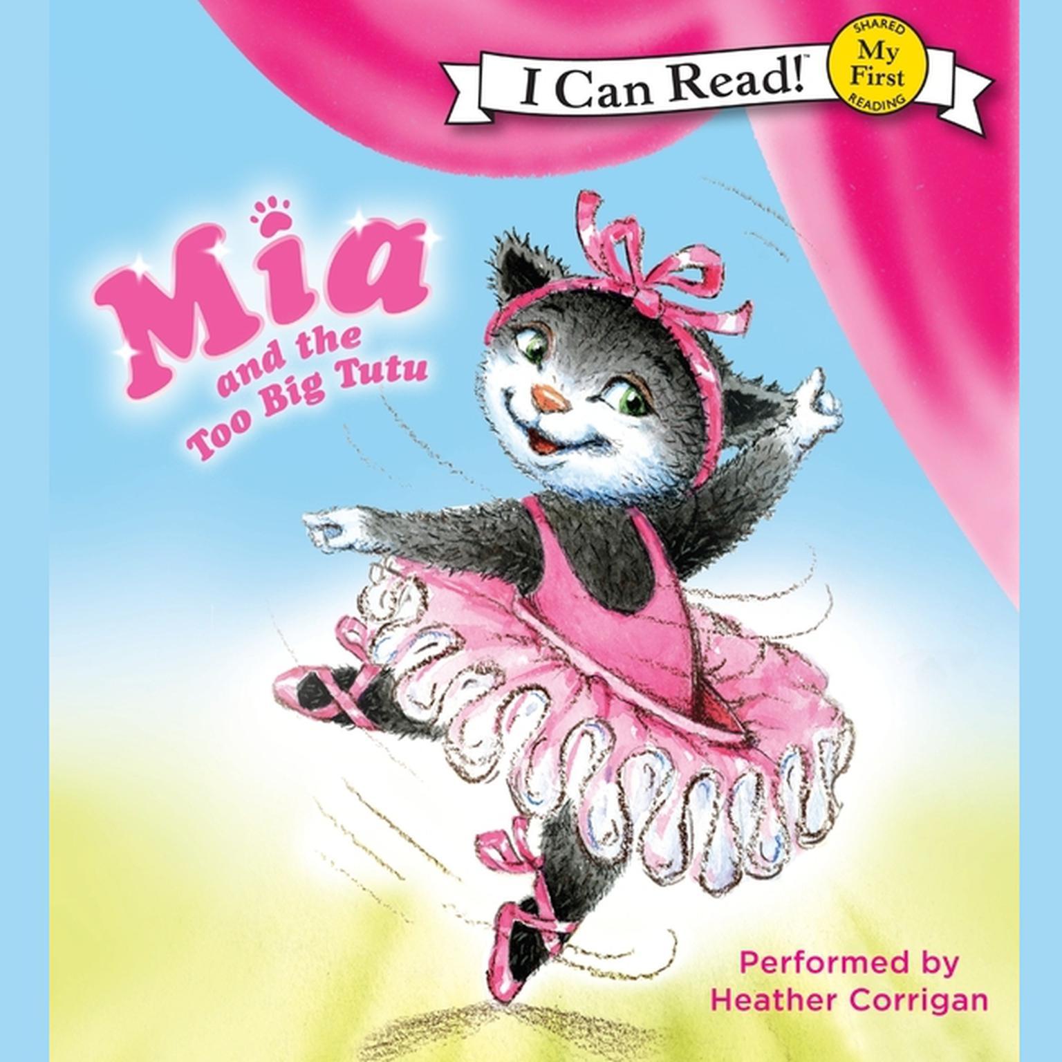 Printable Mia and the Too Big Tutu Audiobook Cover Art