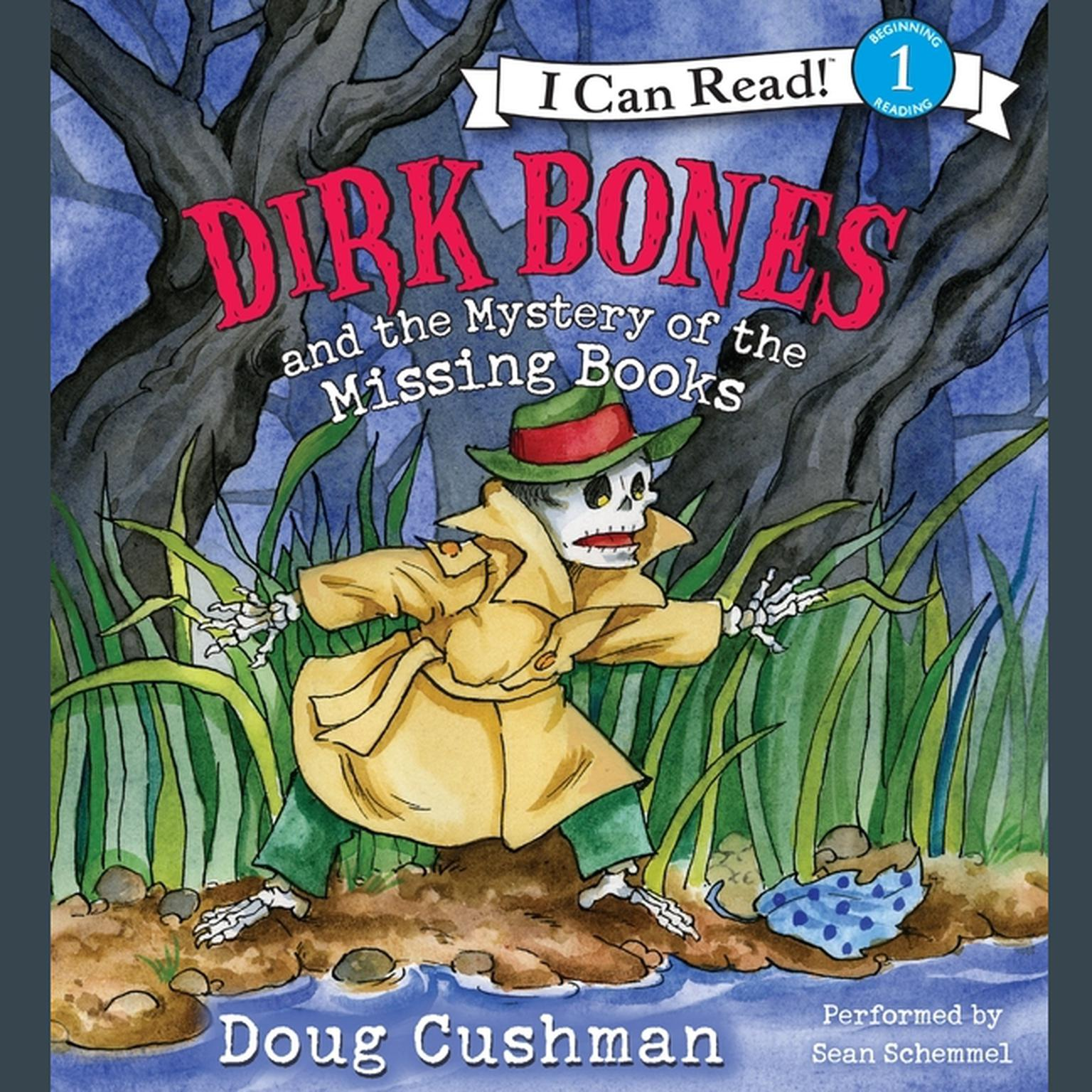 Printable Dirk Bones and the Mystery of the Missing Books Audiobook Cover Art