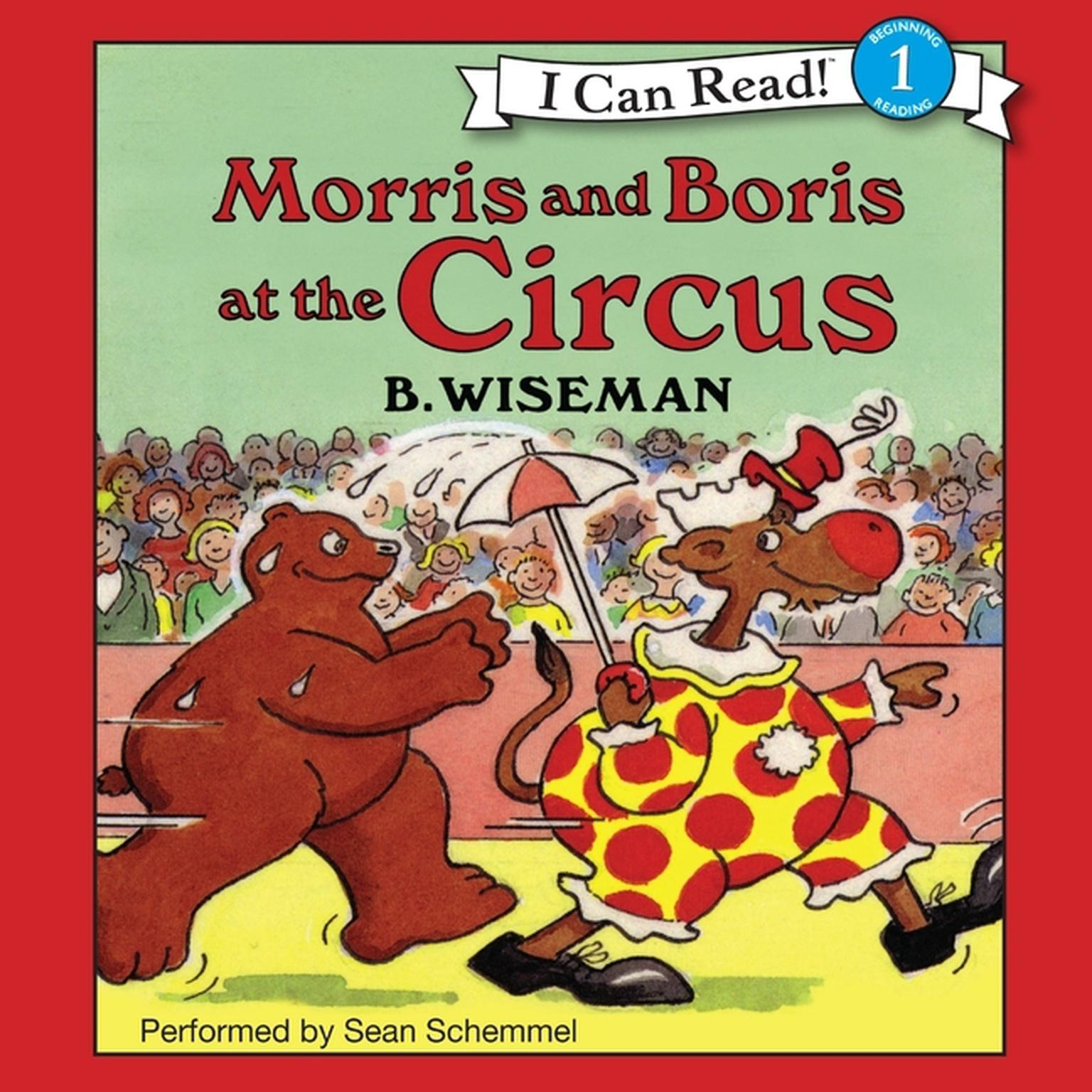 Printable Morris and Boris at the Circus Audiobook Cover Art