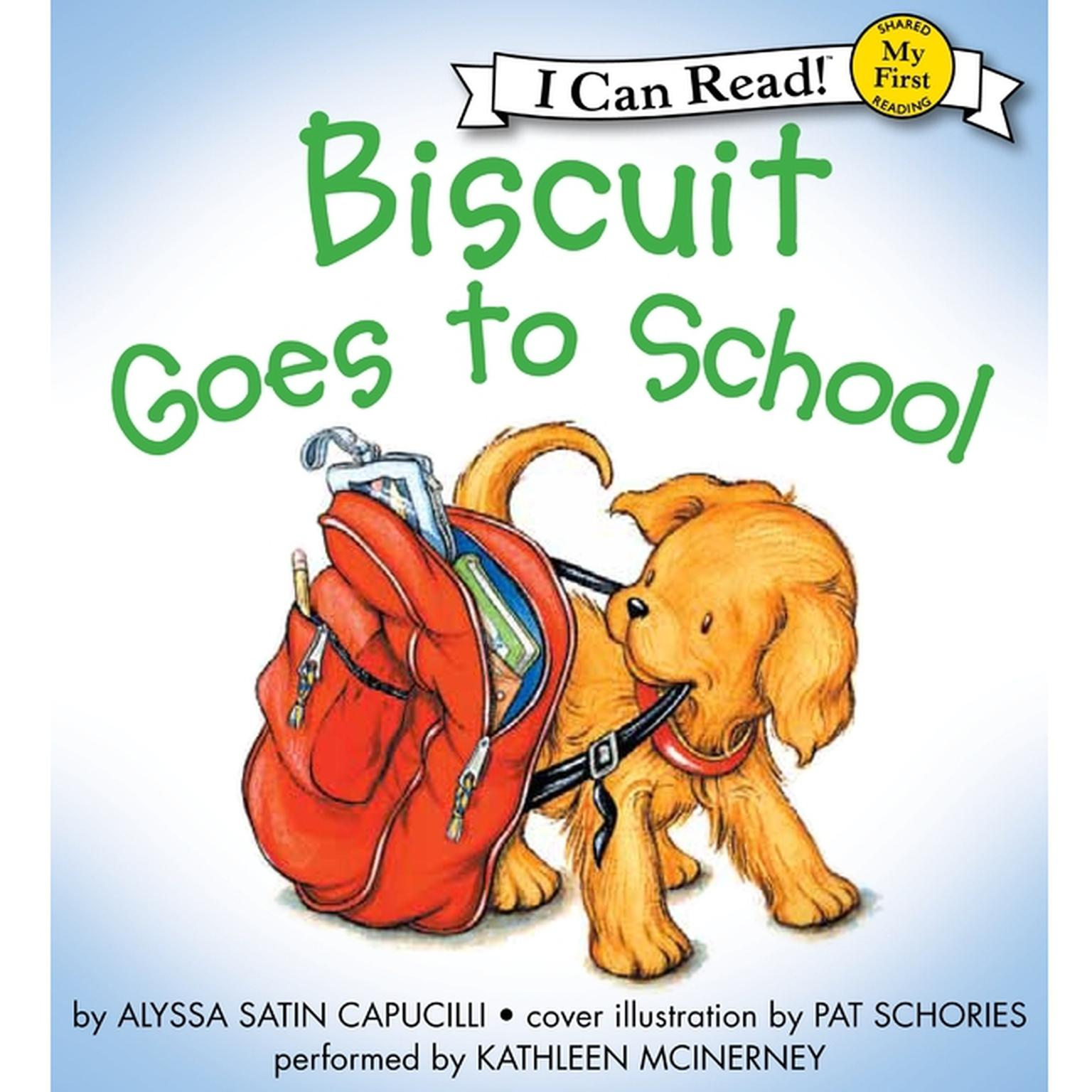 Printable Biscuit Goes to School Audiobook Cover Art