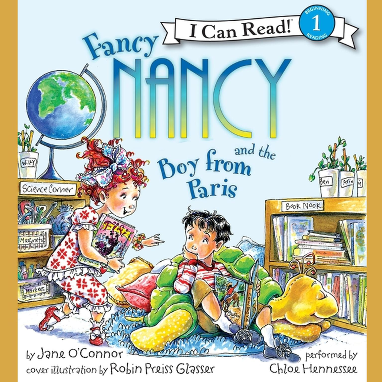 Printable Fancy Nancy and the Boy from Paris Audiobook Cover Art