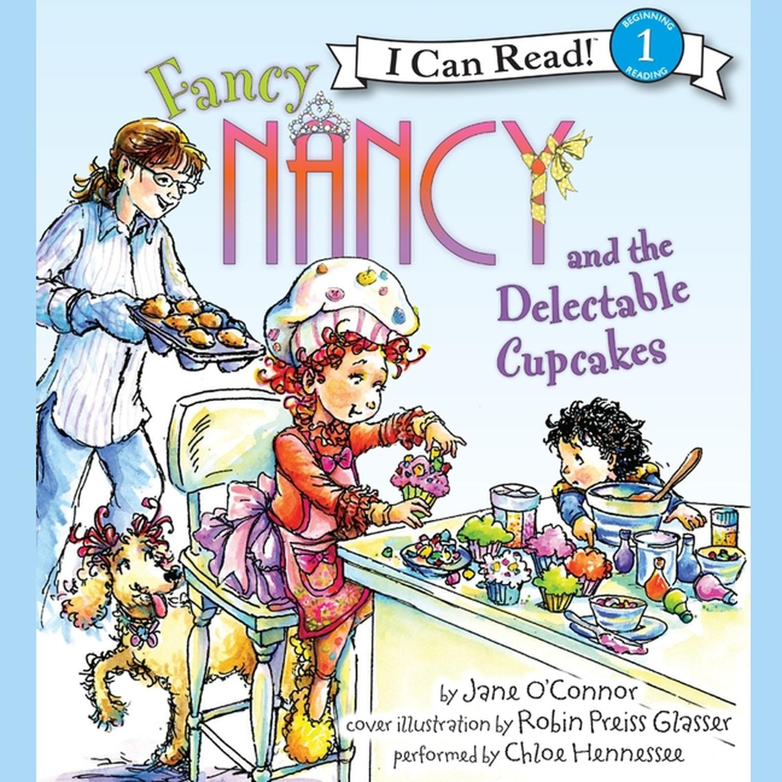 Printable Fancy Nancy and the Delectable Cupcakes Audiobook Cover Art