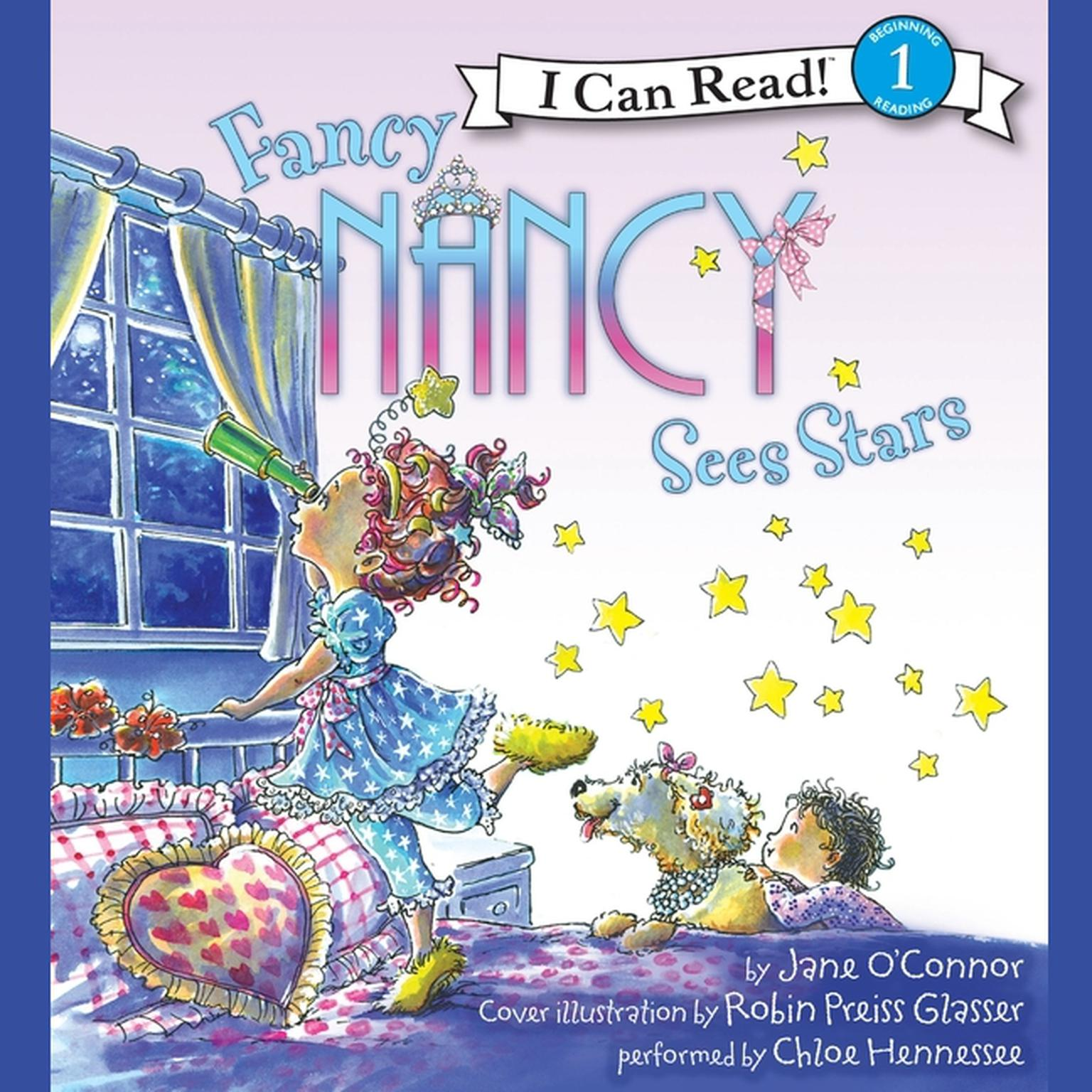 Printable Fancy Nancy Sees Stars Audiobook Cover Art