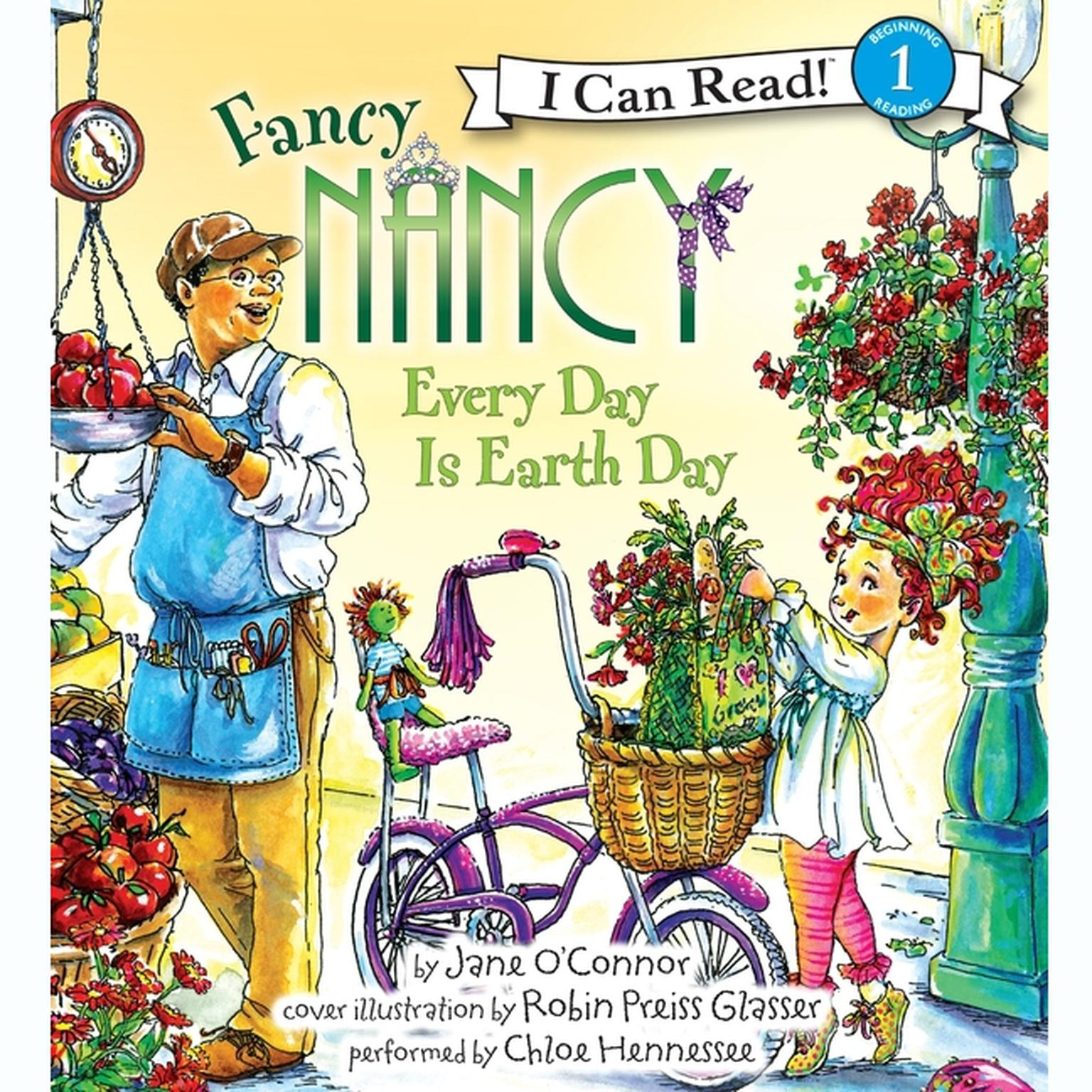 Printable Fancy Nancy: Every Day Is Earth Day Audiobook Cover Art