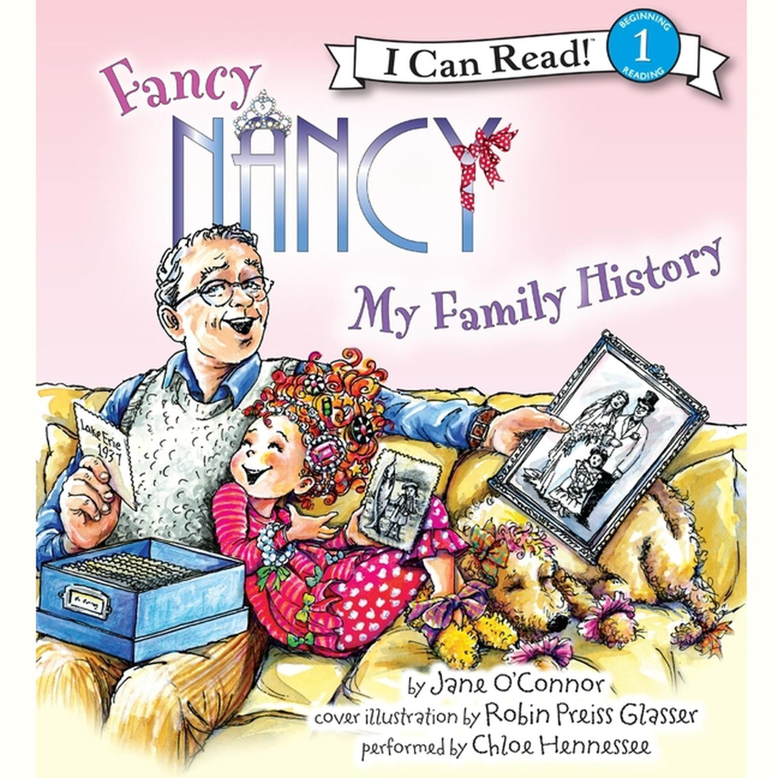 Printable Fancy Nancy: My Family History Audiobook Cover Art