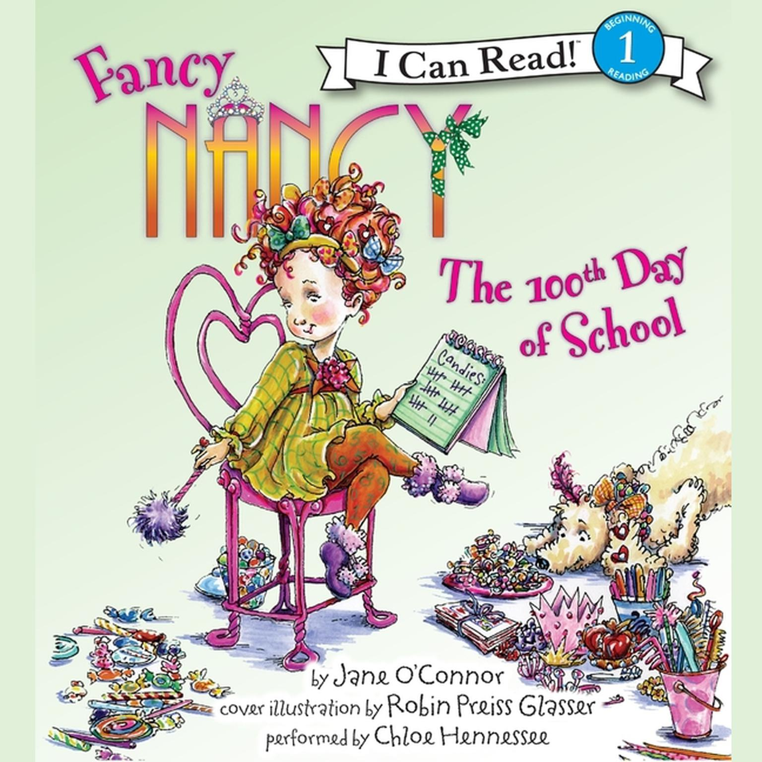 Printable Fancy Nancy: The 100th Day of School Audiobook Cover Art