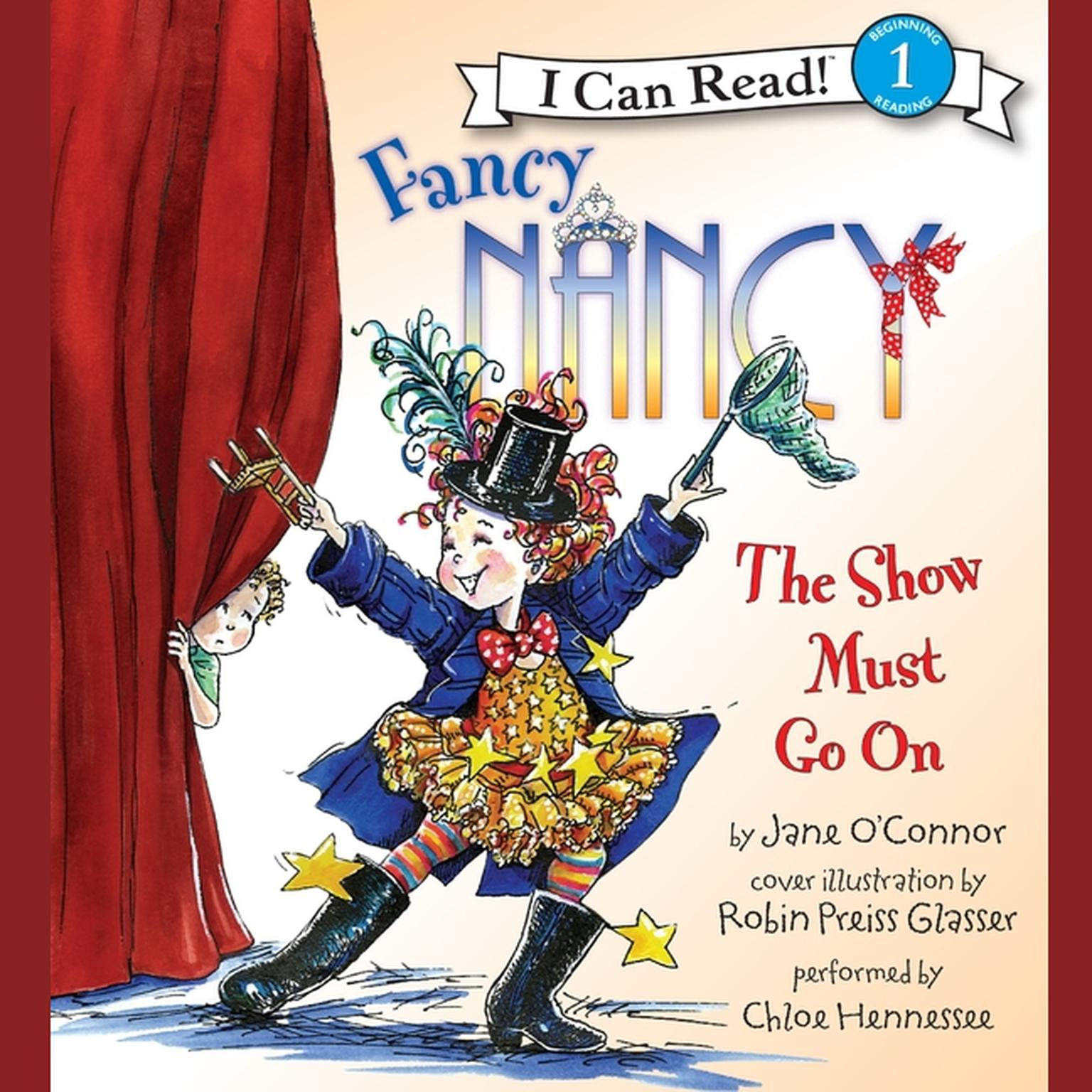 Printable Fancy Nancy: The Show Must Go On Audiobook Cover Art