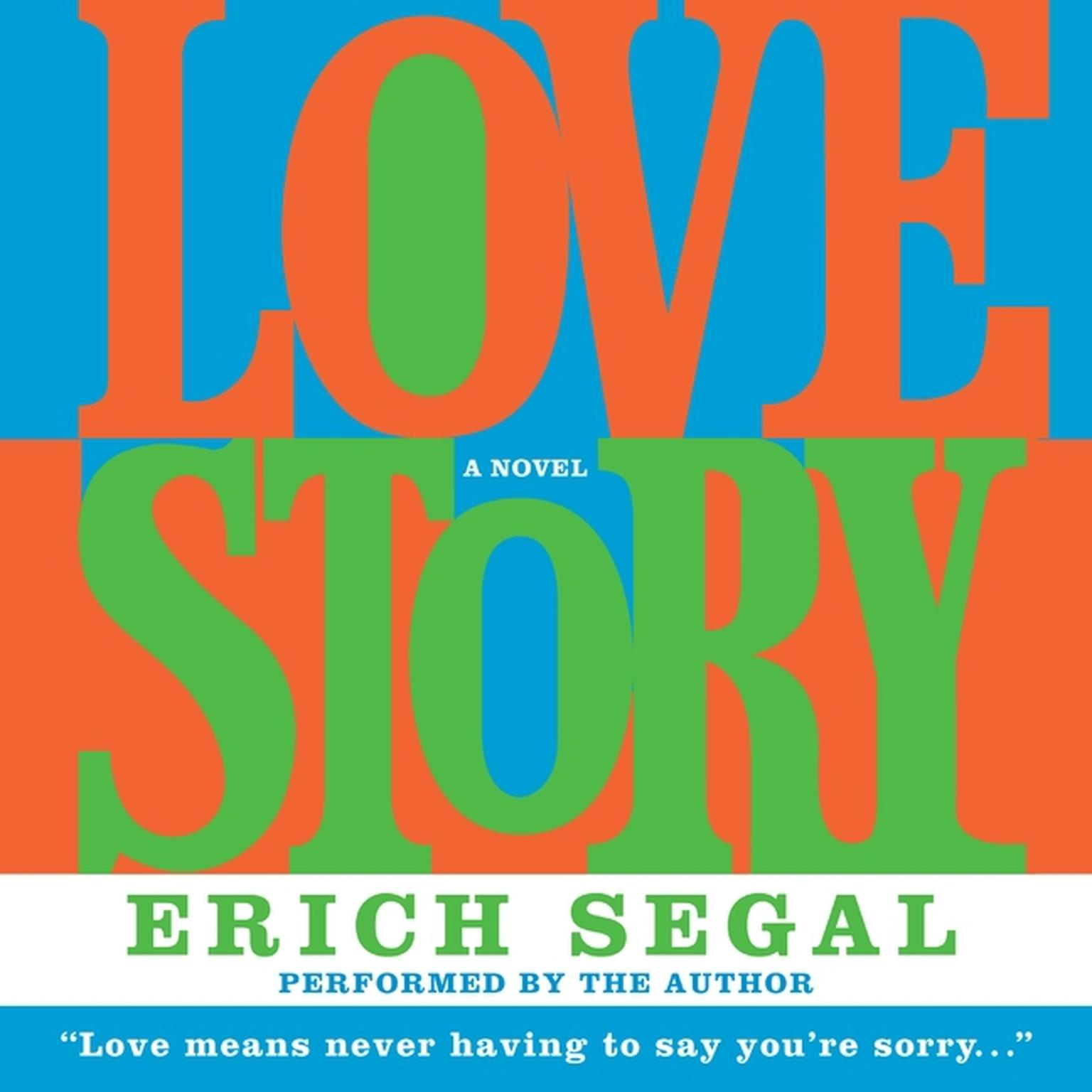 Printable Love Story Audiobook Cover Art