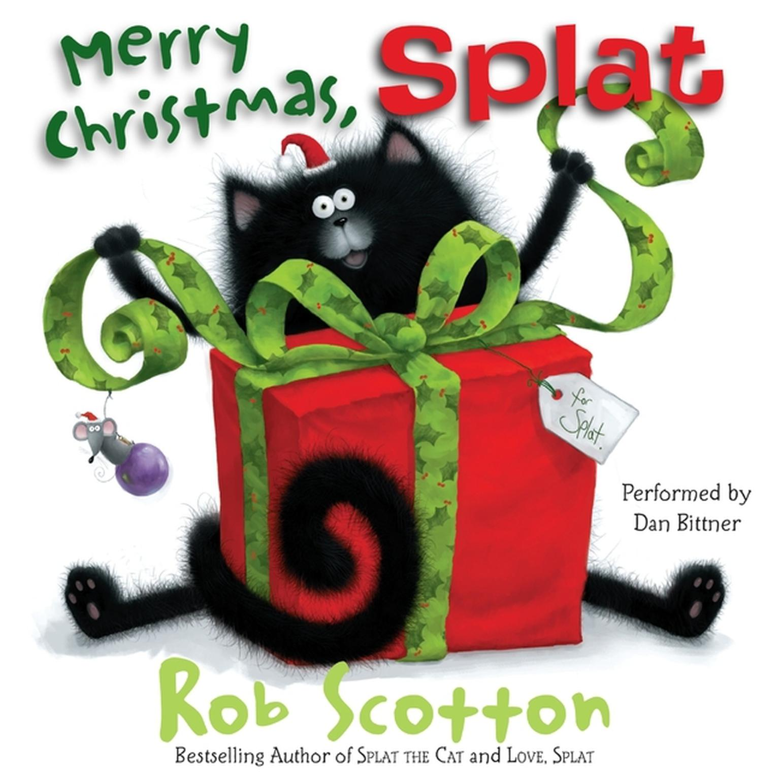 Printable Merry Christmas, Splat Audiobook Cover Art