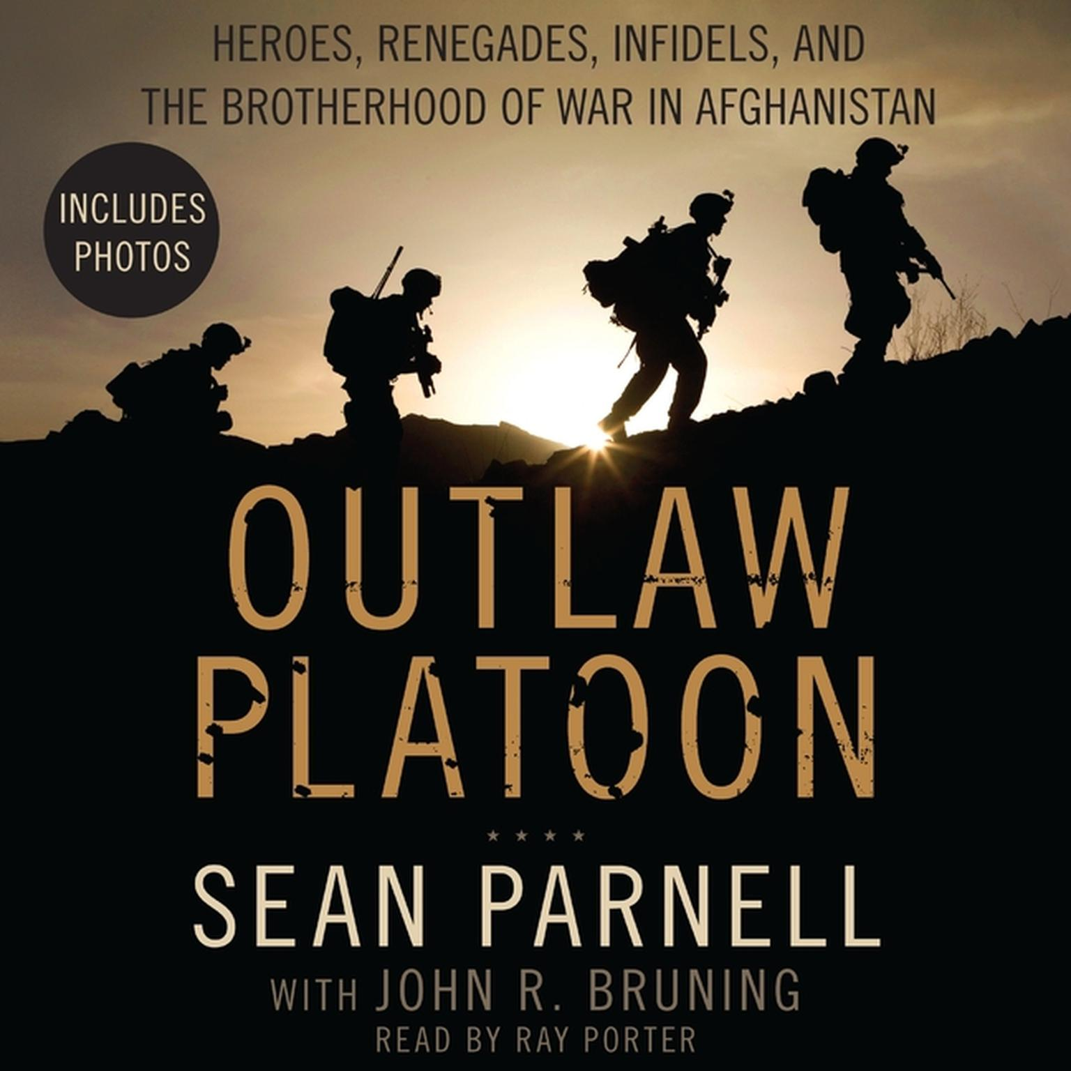 Printable Outlaw Platoon: Heroes, Renegades, Infidels, and the Brotherhood of War in Afghanistan Audiobook Cover Art