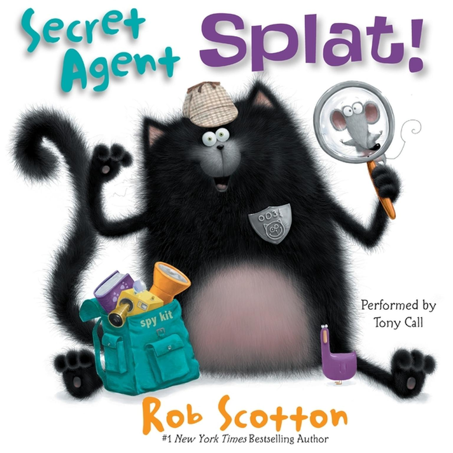 Printable Secret Agent Splat! Audiobook Cover Art