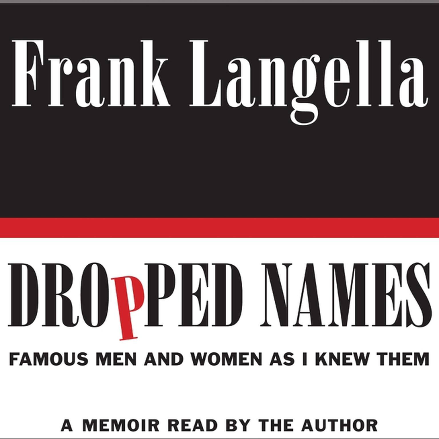 Printable Dropped Names: Famous Men and Women As I Knew Them Audiobook Cover Art