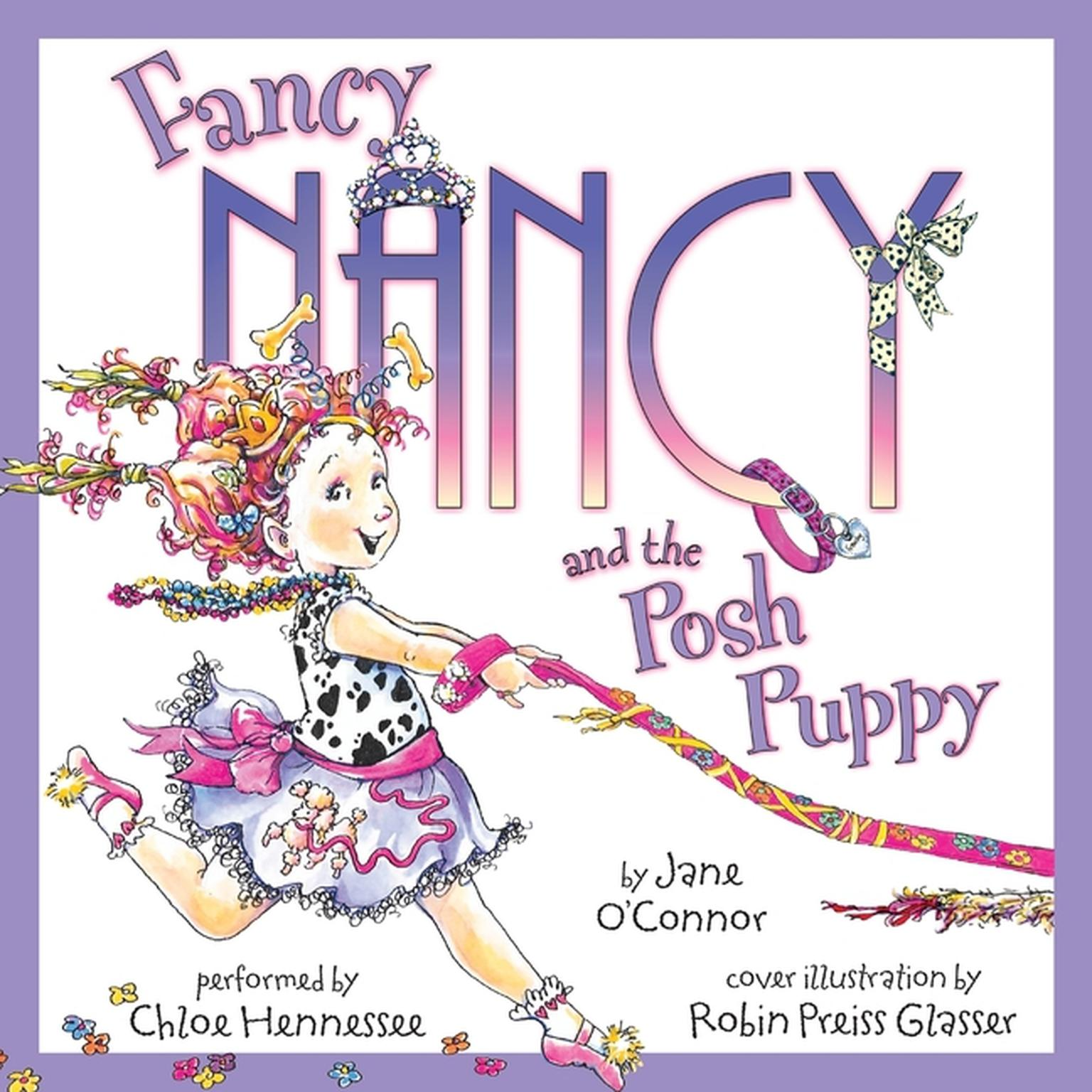 Printable Fancy Nancy and the Posh Puppy Audiobook Cover Art