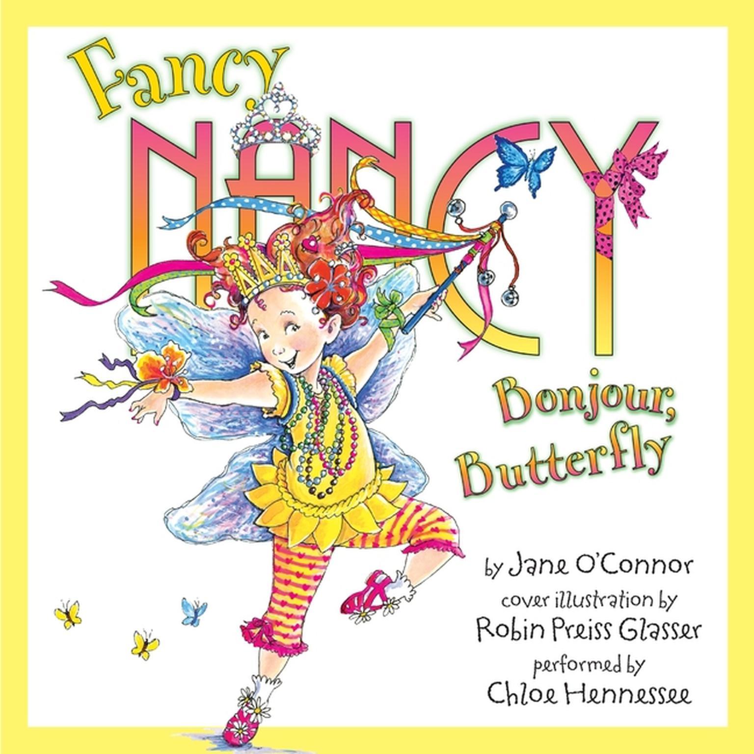 Printable Fancy Nancy: Bonjour, Butterfly Audiobook Cover Art