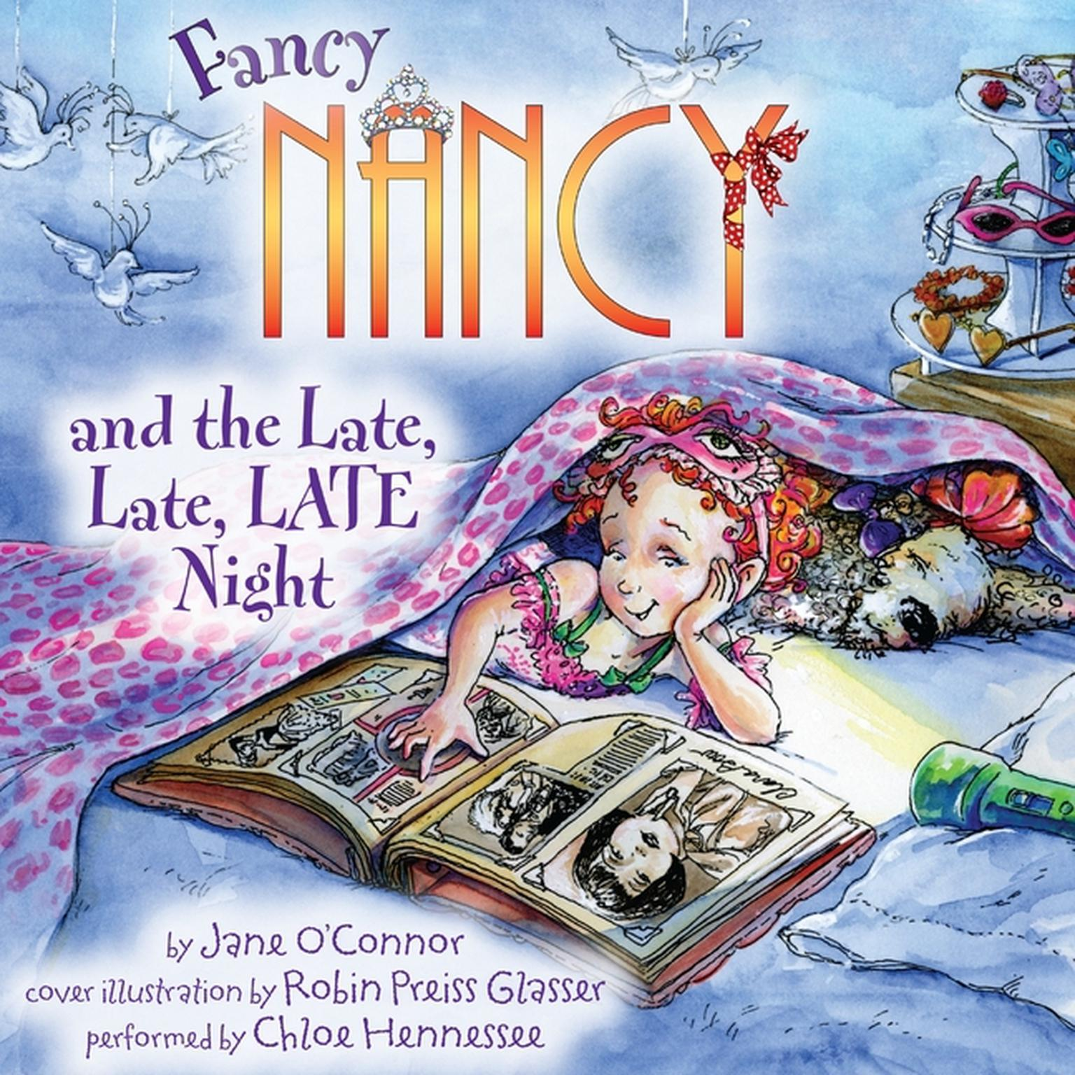 Printable Fancy Nancy and the Late, Late, LATE Night Audiobook Cover Art
