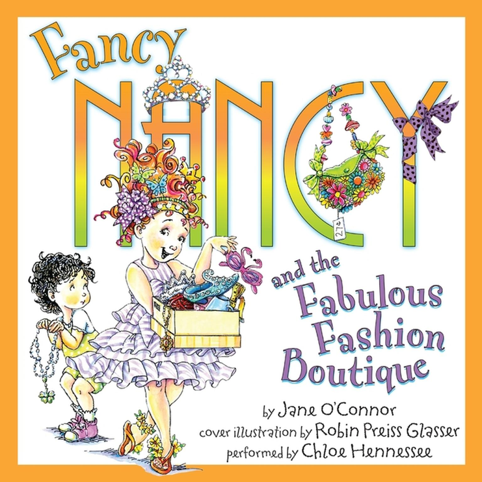 Printable Fancy Nancy and the Fabulous Fashion Boutique Audiobook Cover Art