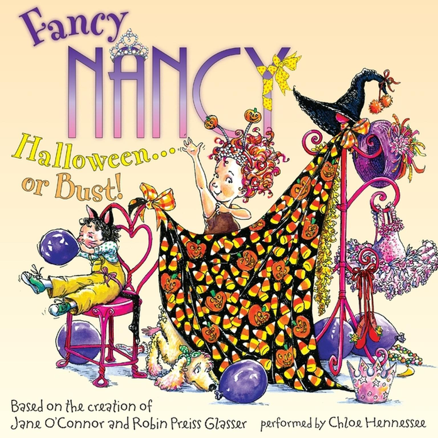 Printable Fancy Nancy: Halloween... or Bust! Audiobook Cover Art