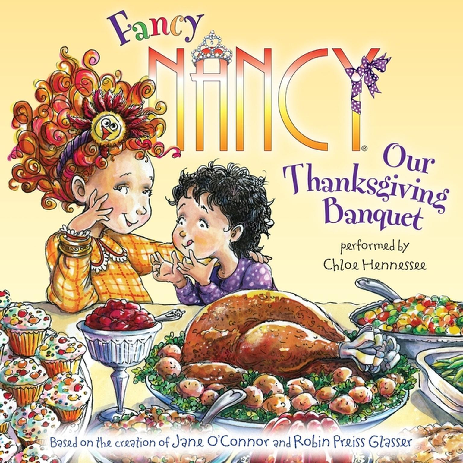 Printable Fancy Nancy: Our Thanksgiving Banquet Audiobook Cover Art
