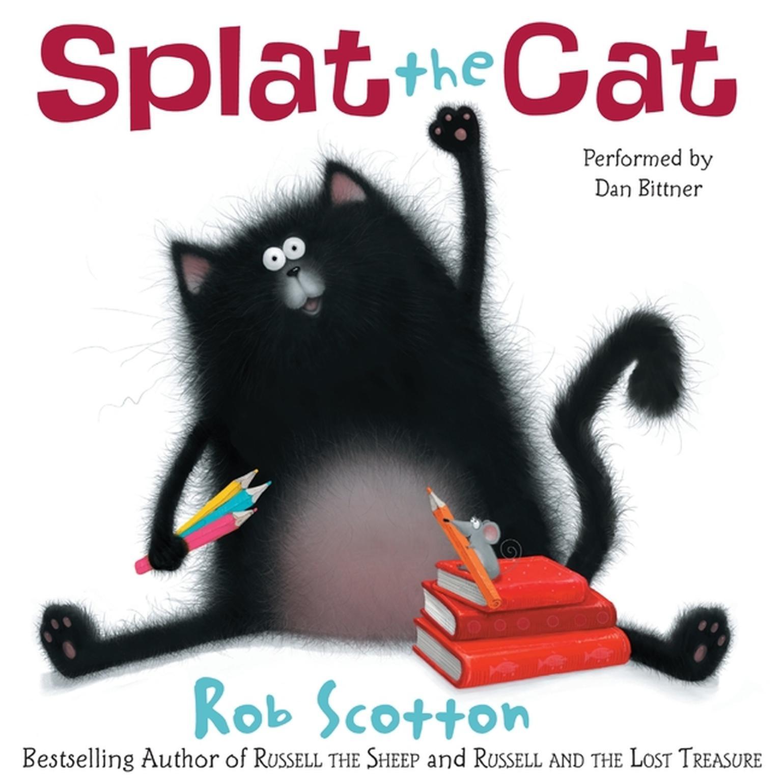 Printable Splat the Cat Audiobook Cover Art