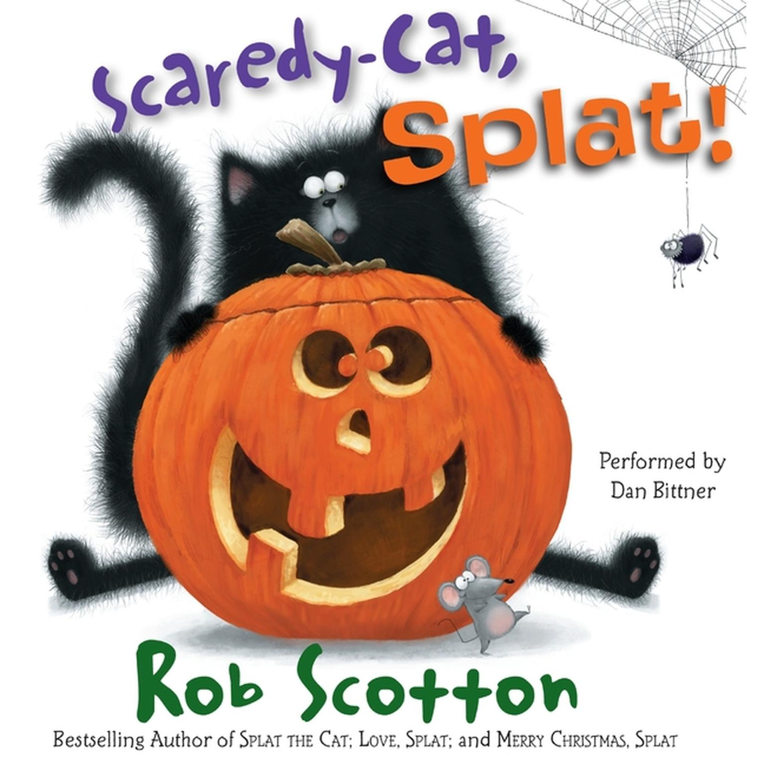 Printable Scaredy-Cat, Splat! Audiobook Cover Art