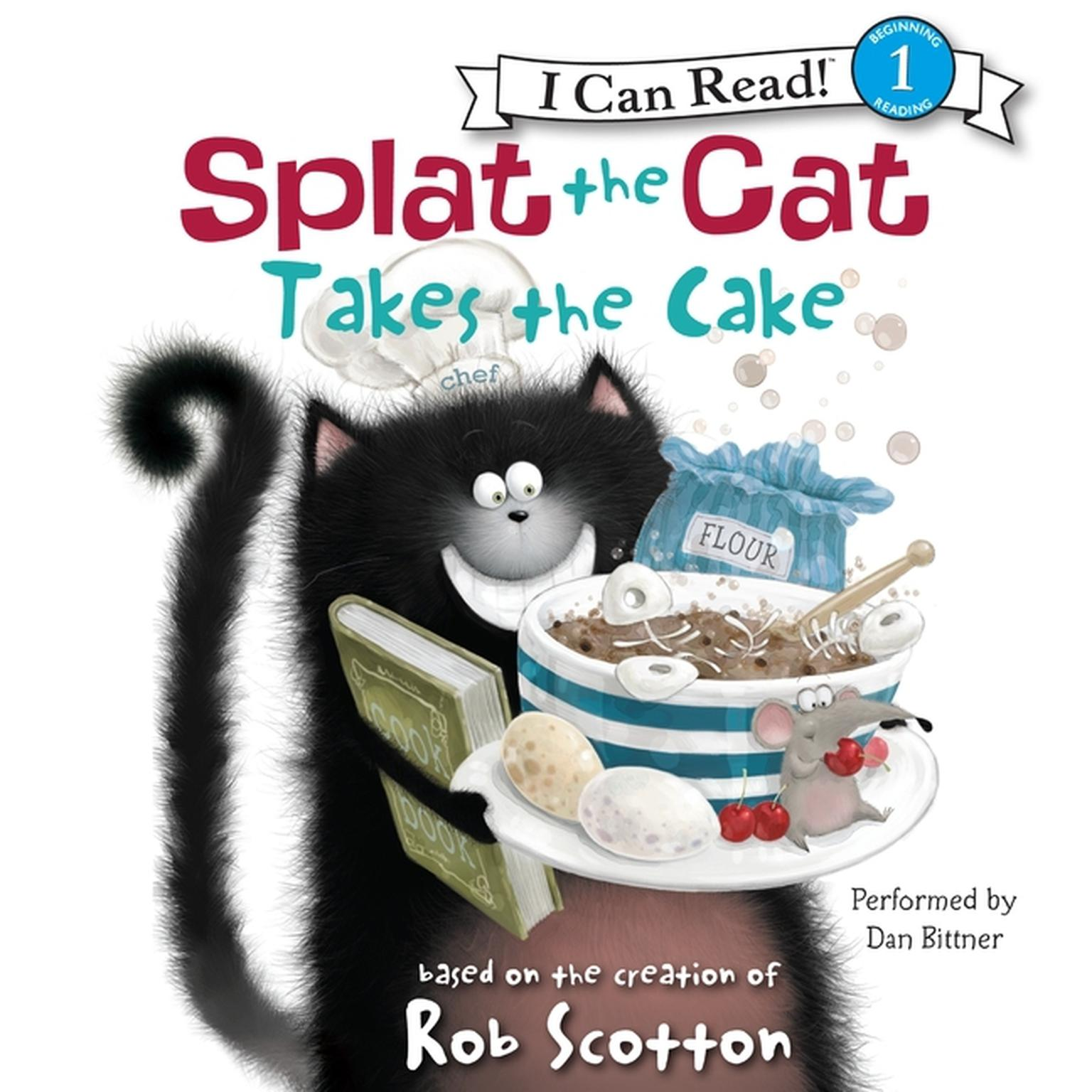 Printable Splat the Cat Takes the Cake Audiobook Cover Art