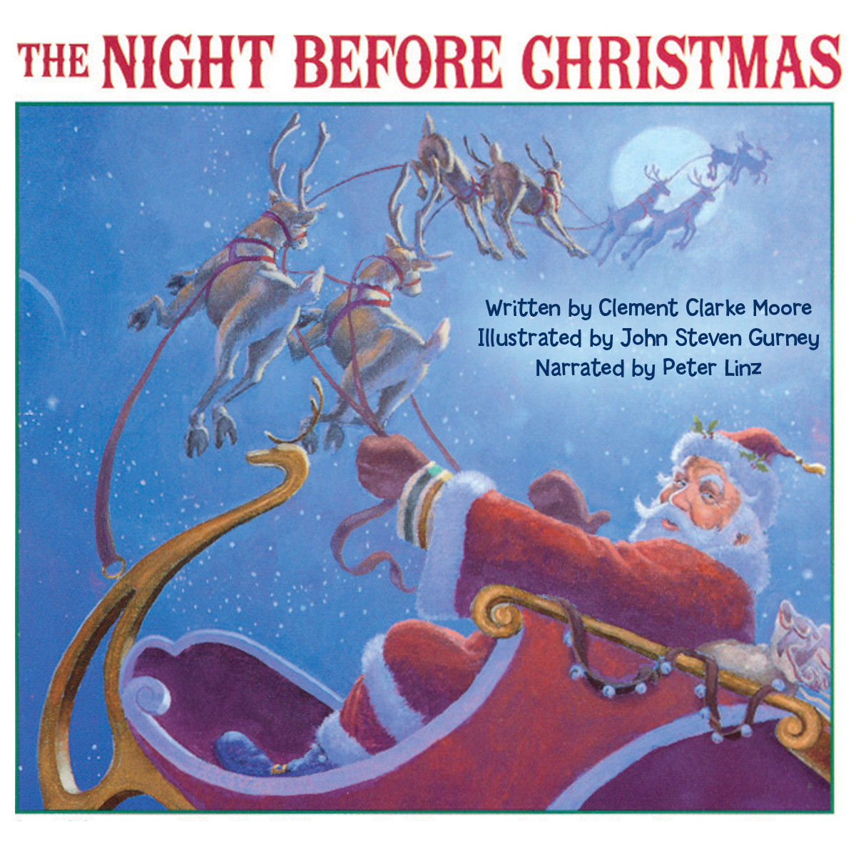 Printable The Night Before Christmas Audiobook Cover Art