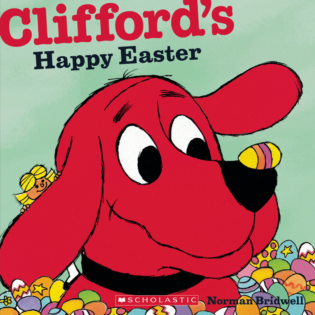 Printable Clifford's Happy Easter Audiobook Cover Art