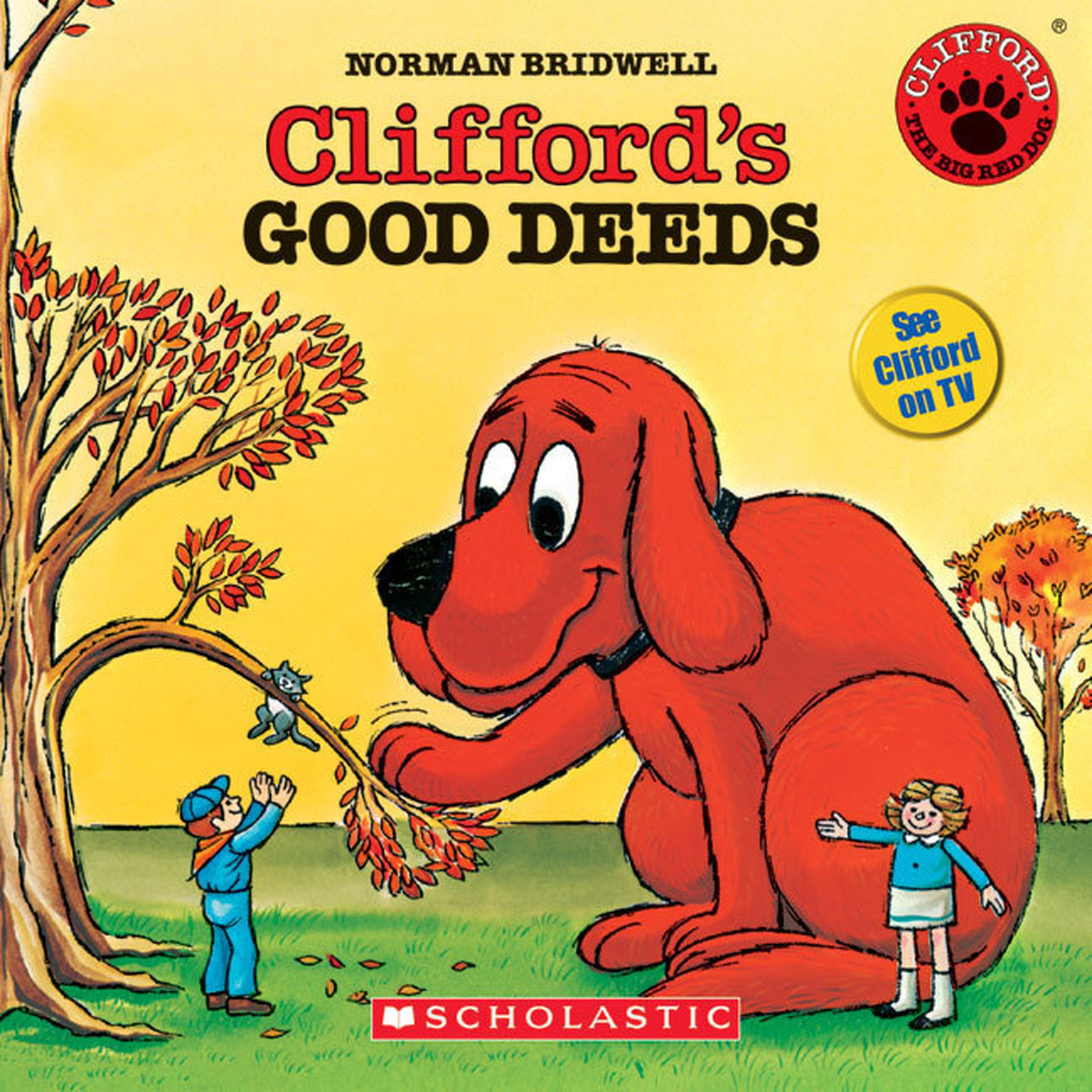 Printable Clifford's Good Deeds Audiobook Cover Art