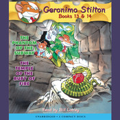 The Phantom of the Subway & The Temple of the Ruby of Fire: Geronimo Stilton, Books 13 & 14 Audiobook, by Geronimo Stilton