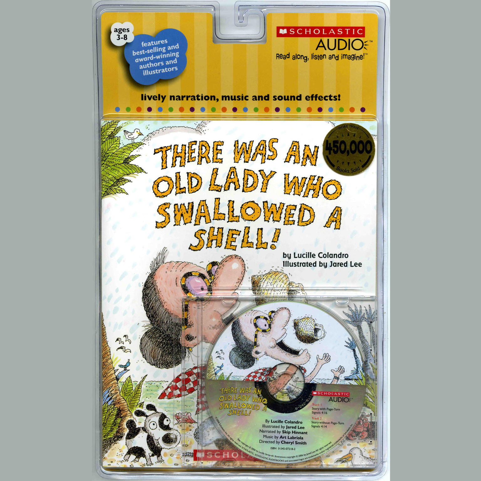 Printable There Was an Old Lady Who Swallowed a Shell! Audiobook Cover Art