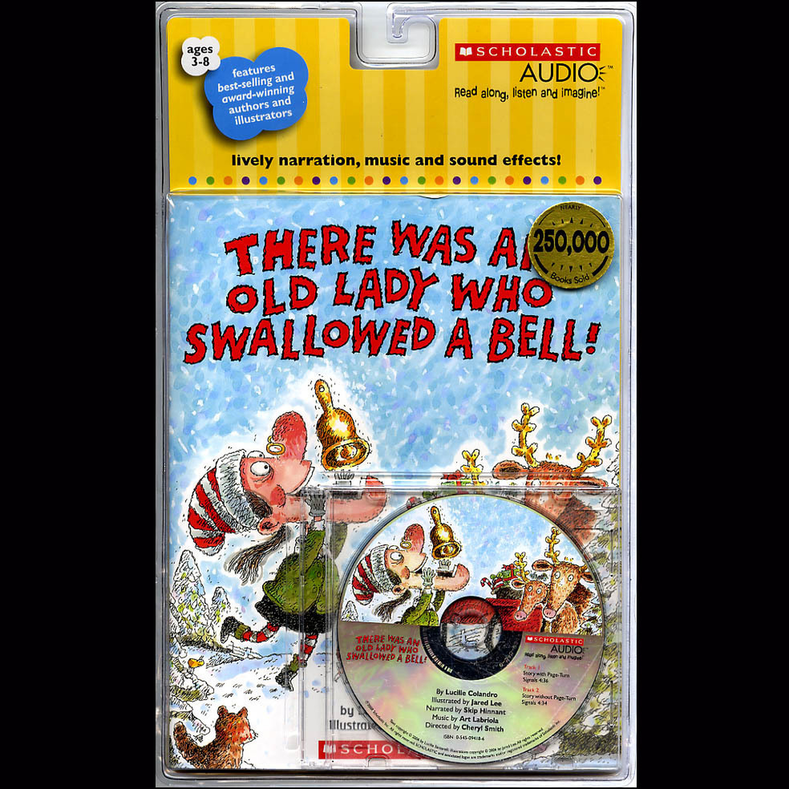 Printable There Was an Old Lady Who Swallowed a Bell! Audiobook Cover Art