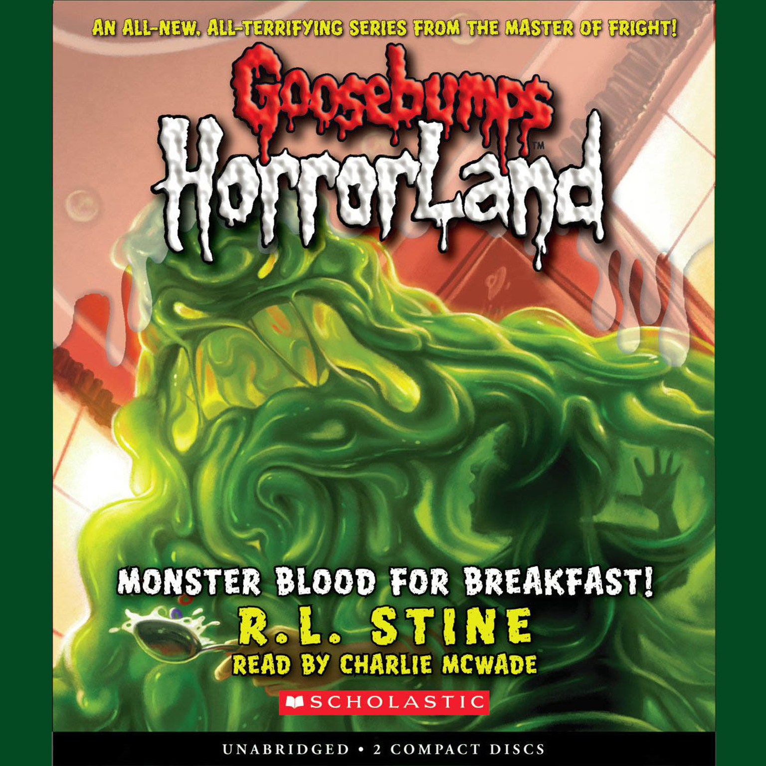 Printable Monster Blood for Breakfast! Audiobook Cover Art